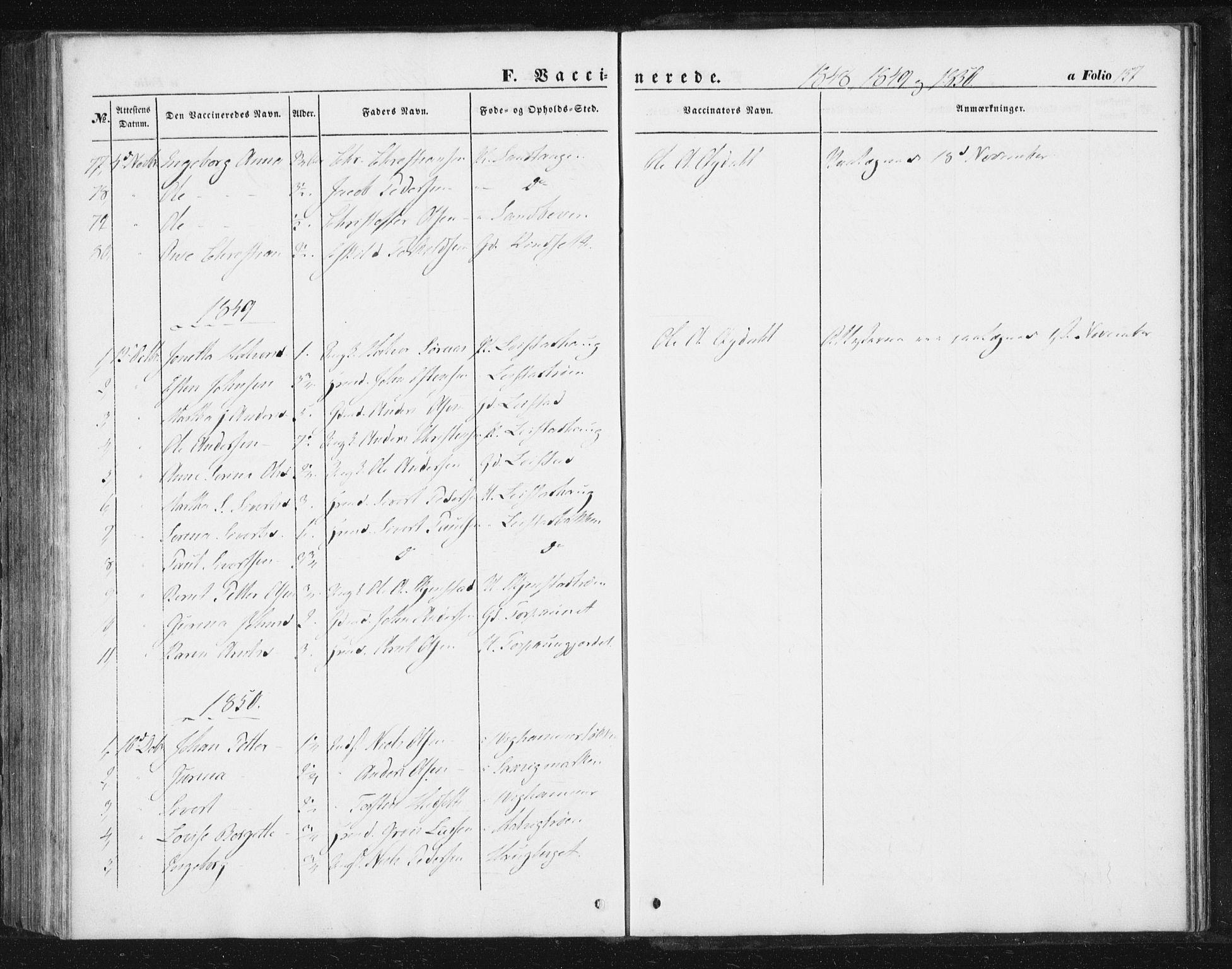 SAT, Ministerialprotokoller, klokkerbøker og fødselsregistre - Sør-Trøndelag, 616/L0407: Ministerialbok nr. 616A04, 1848-1856, s. 157