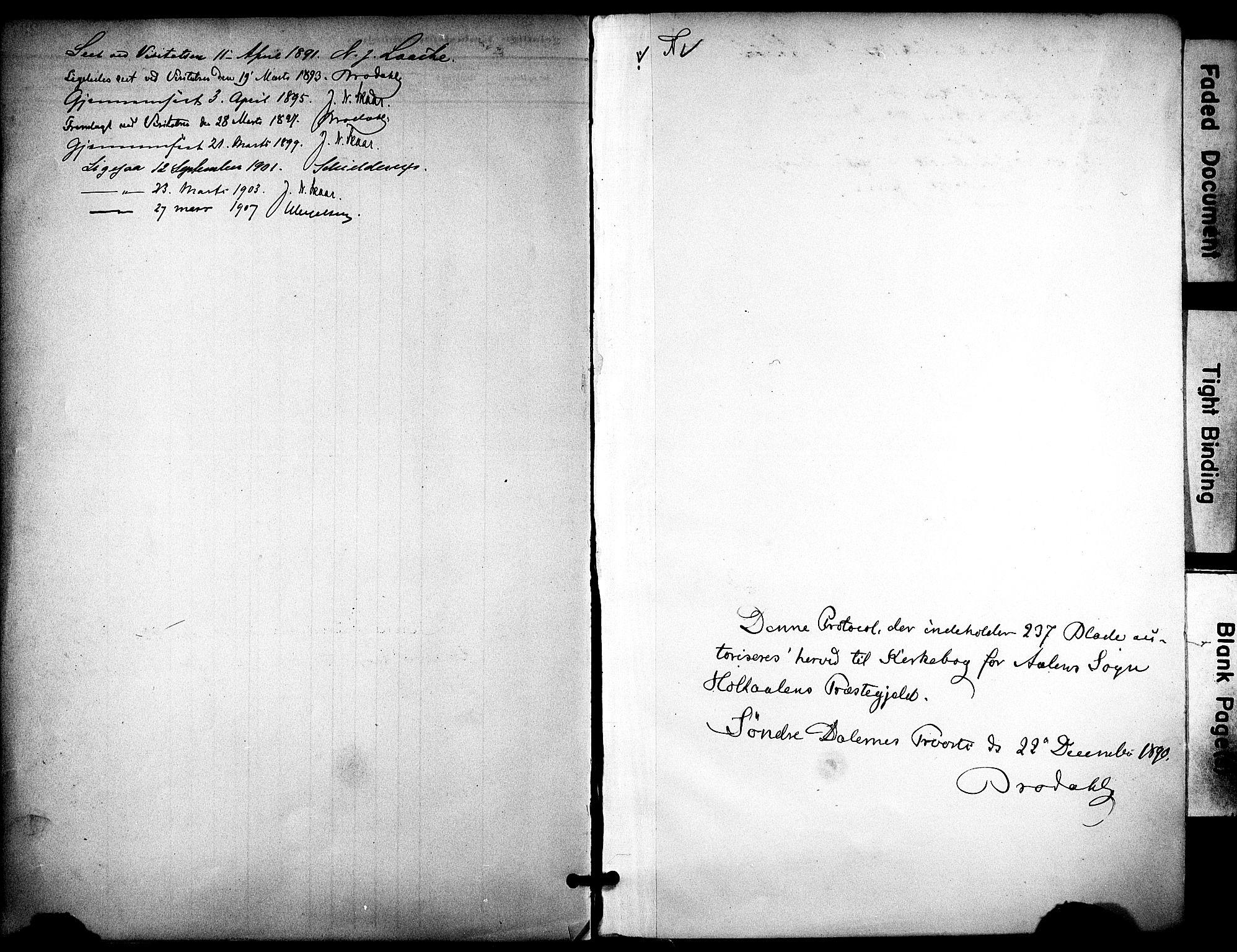 SAT, Ministerialprotokoller, klokkerbøker og fødselsregistre - Sør-Trøndelag, 686/L0984: Ministerialbok nr. 686A02, 1891-1906