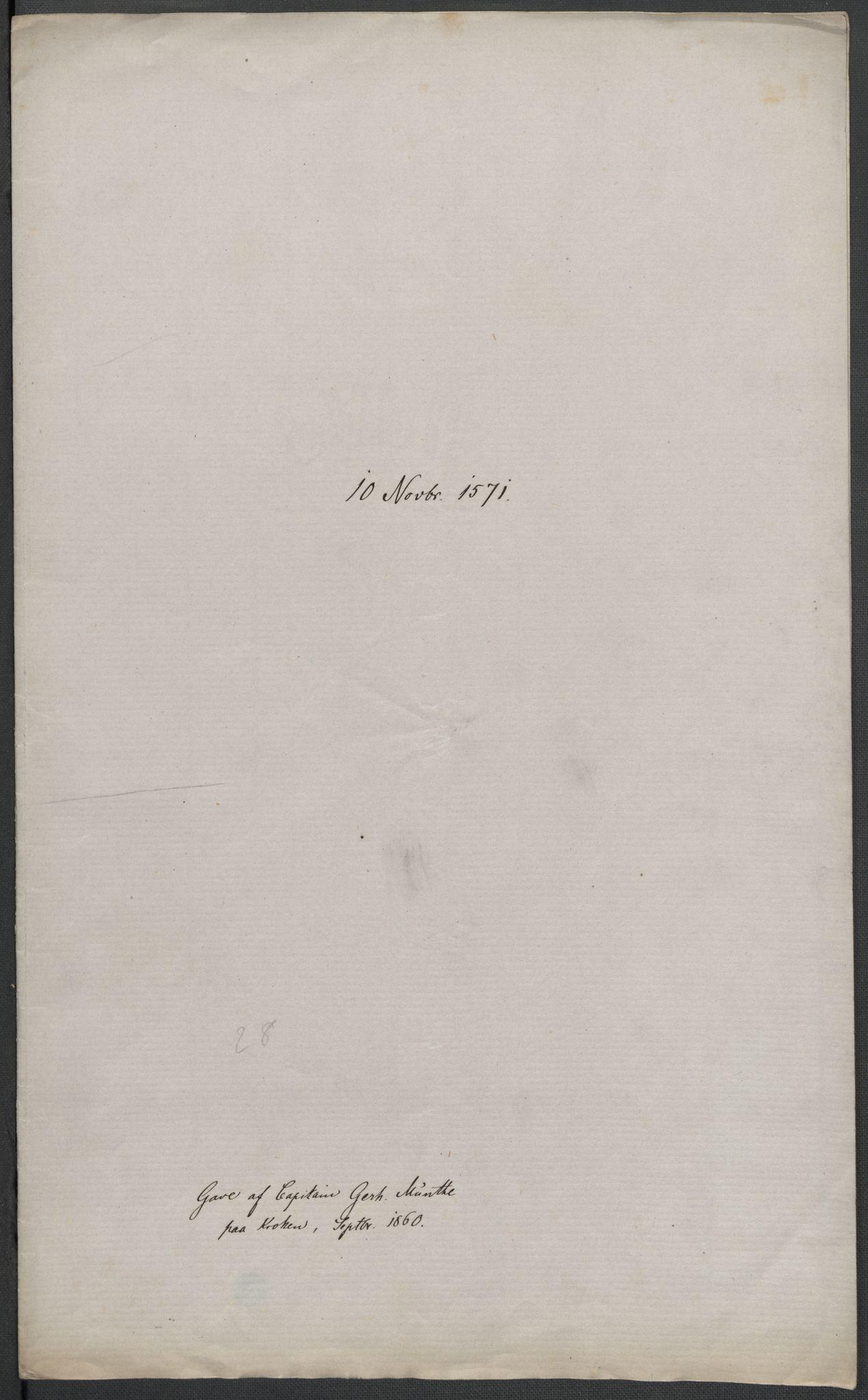 RA, Riksarkivets diplomsamling, F02/L0075: Dokumenter, 1570-1571, s. 72