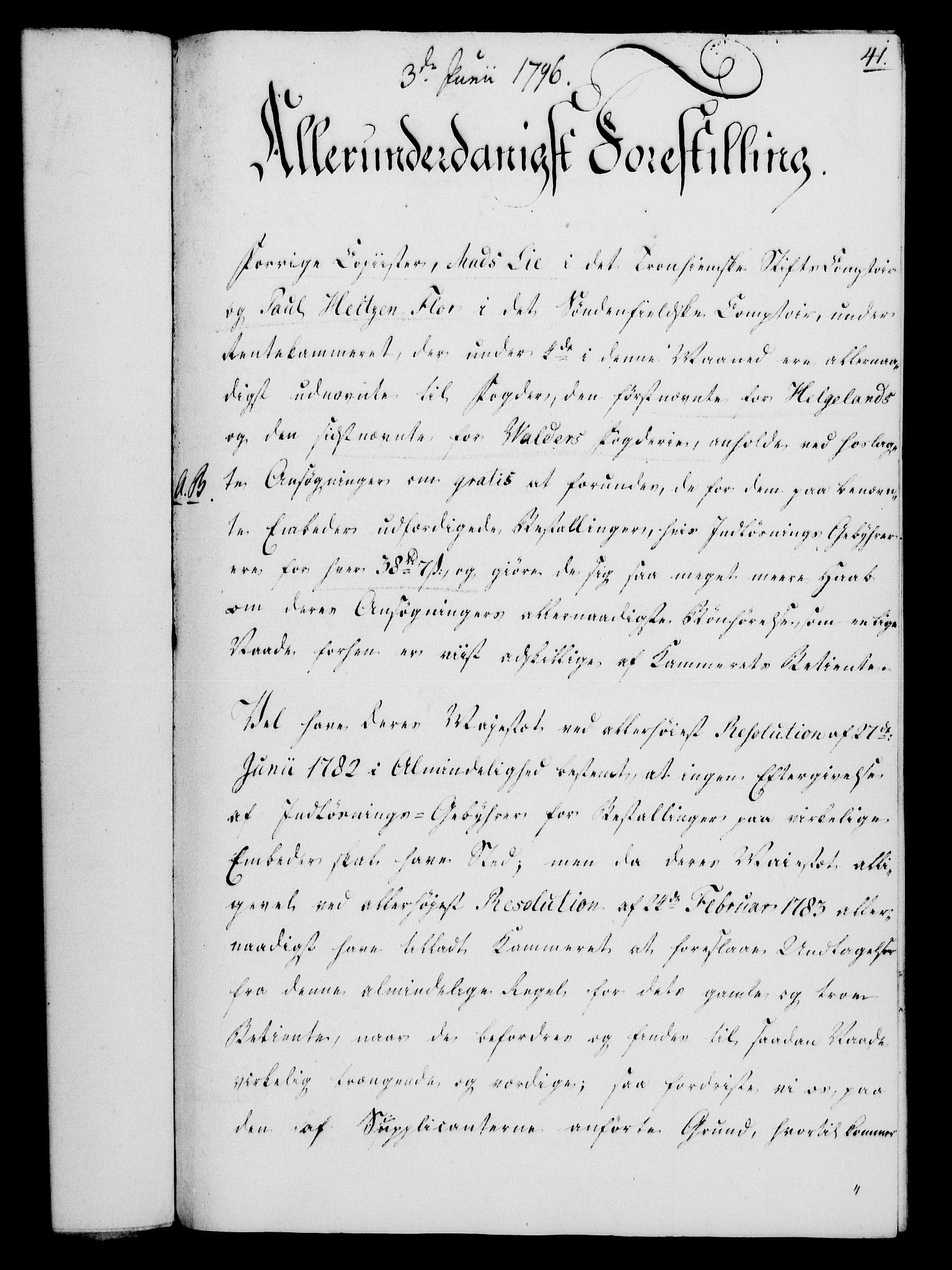 RA, Rentekammeret, Kammerkanselliet, G/Gf/Gfa/L0078: Norsk relasjons- og resolusjonsprotokoll (merket RK 52.78), 1796, s. 229