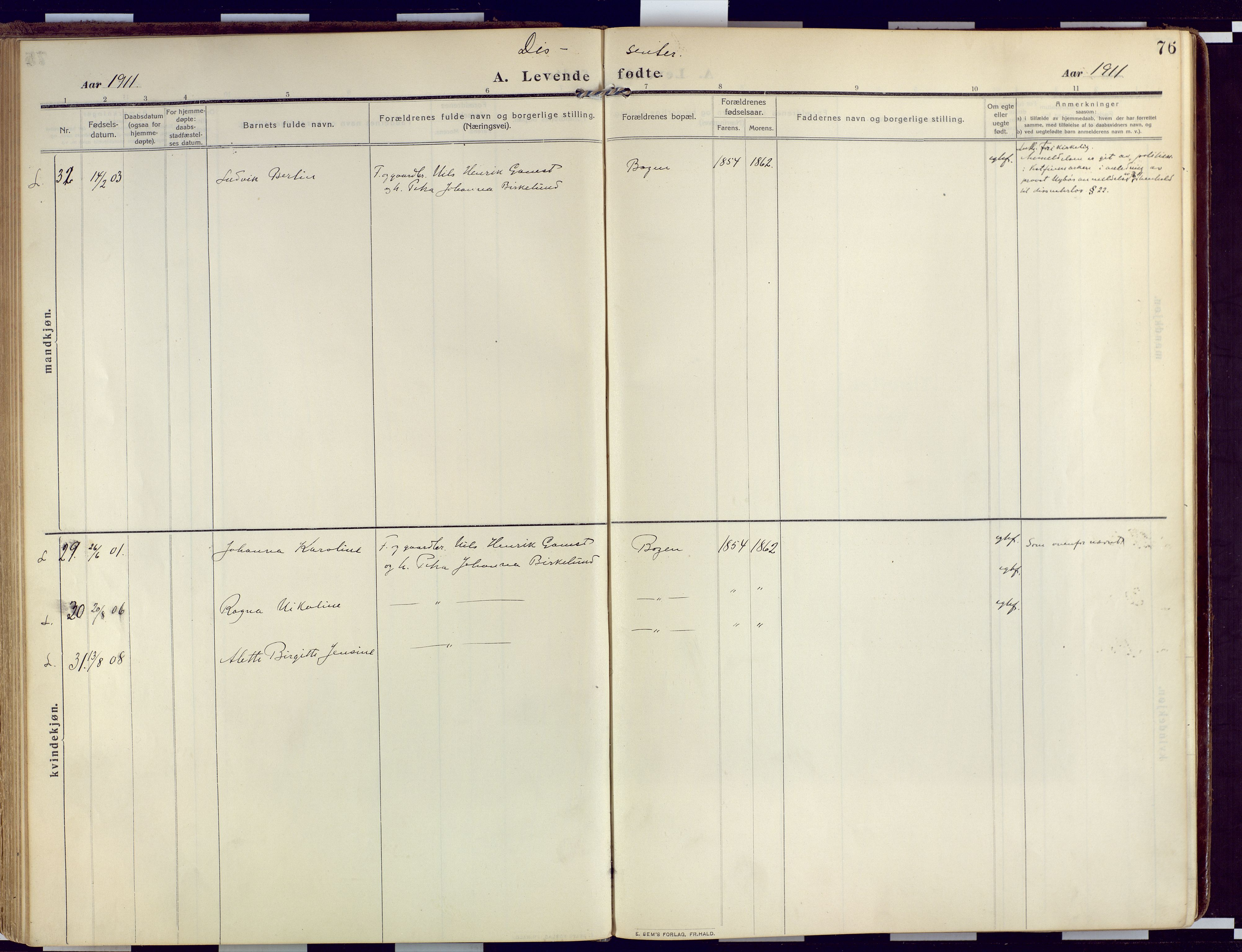 SATØ, Loppa sokneprestkontor, H/Ha/L0011kirke: Ministerialbok nr. 11, 1909-1919, s. 76
