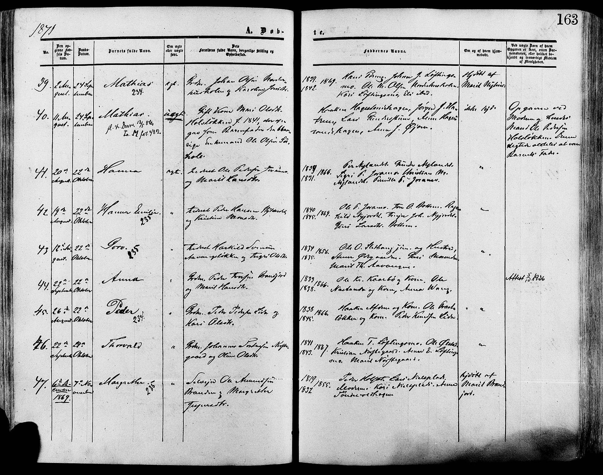 SAH, Lesja prestekontor, Ministerialbok nr. 8, 1854-1880, s. 163