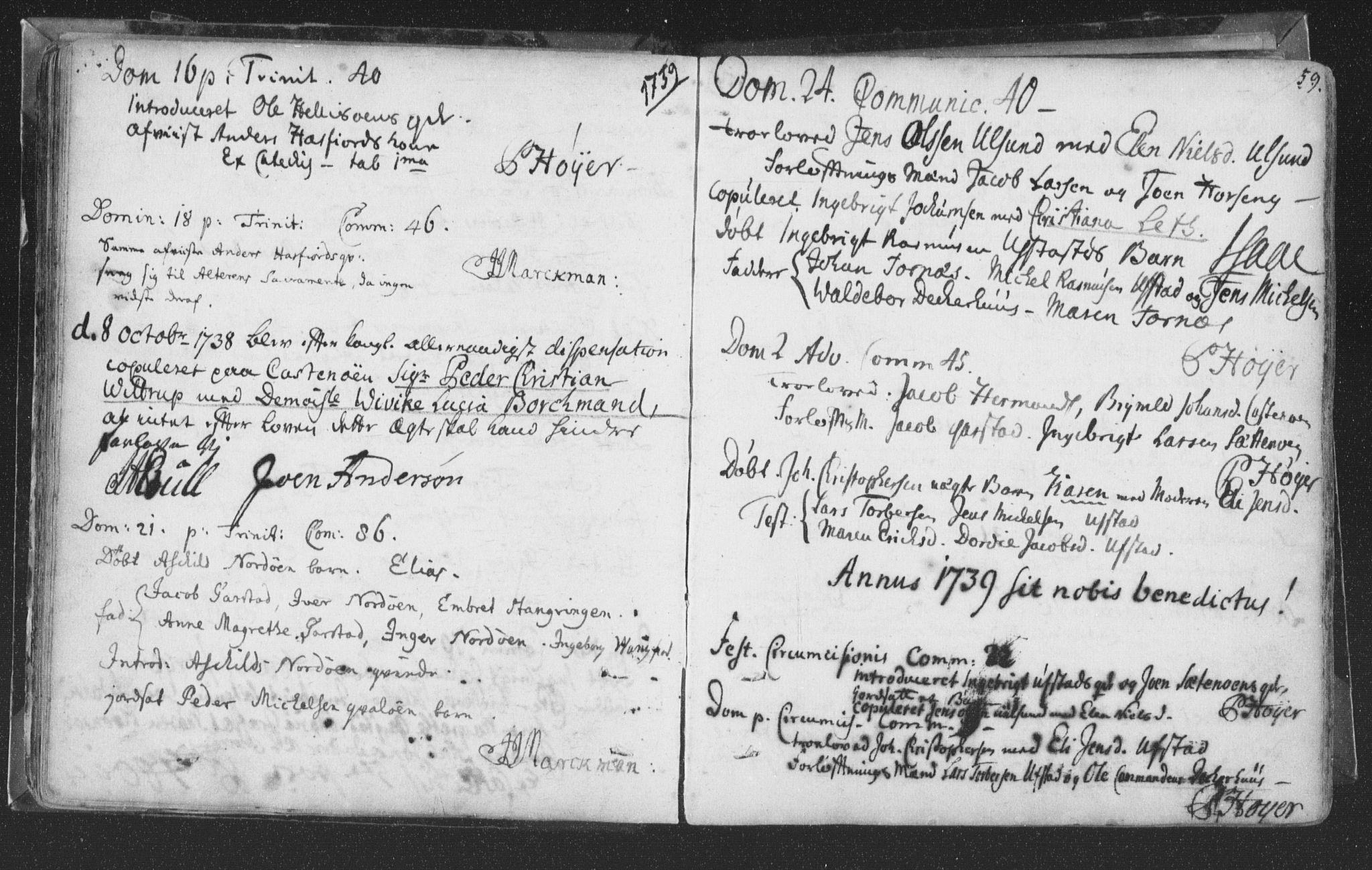 SAT, Ministerialprotokoller, klokkerbøker og fødselsregistre - Nord-Trøndelag, 786/L0685: Ministerialbok nr. 786A01, 1710-1798, s. 59
