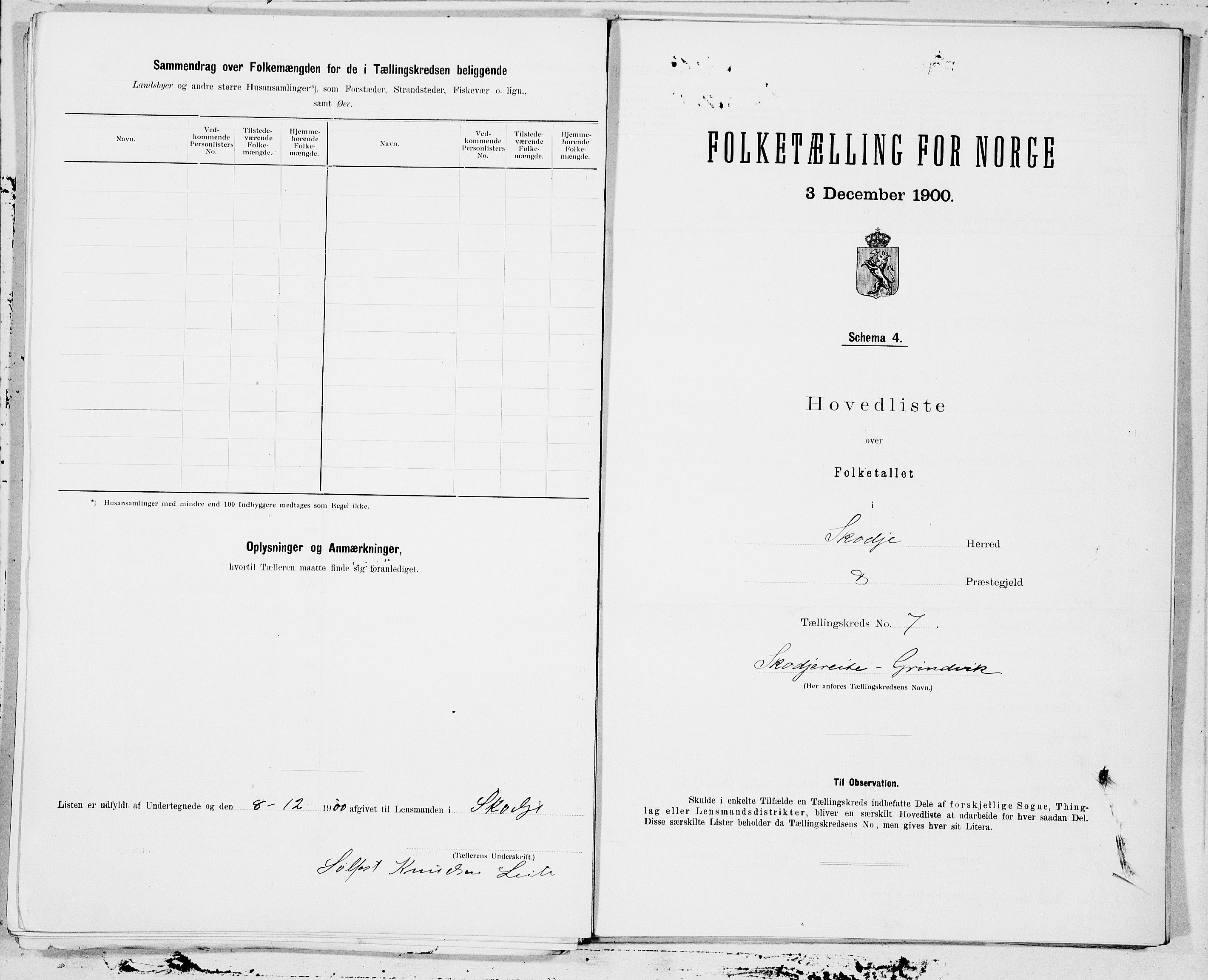 SAT, Folketelling 1900 for 1529 Skodje herred, 1900, s. 14