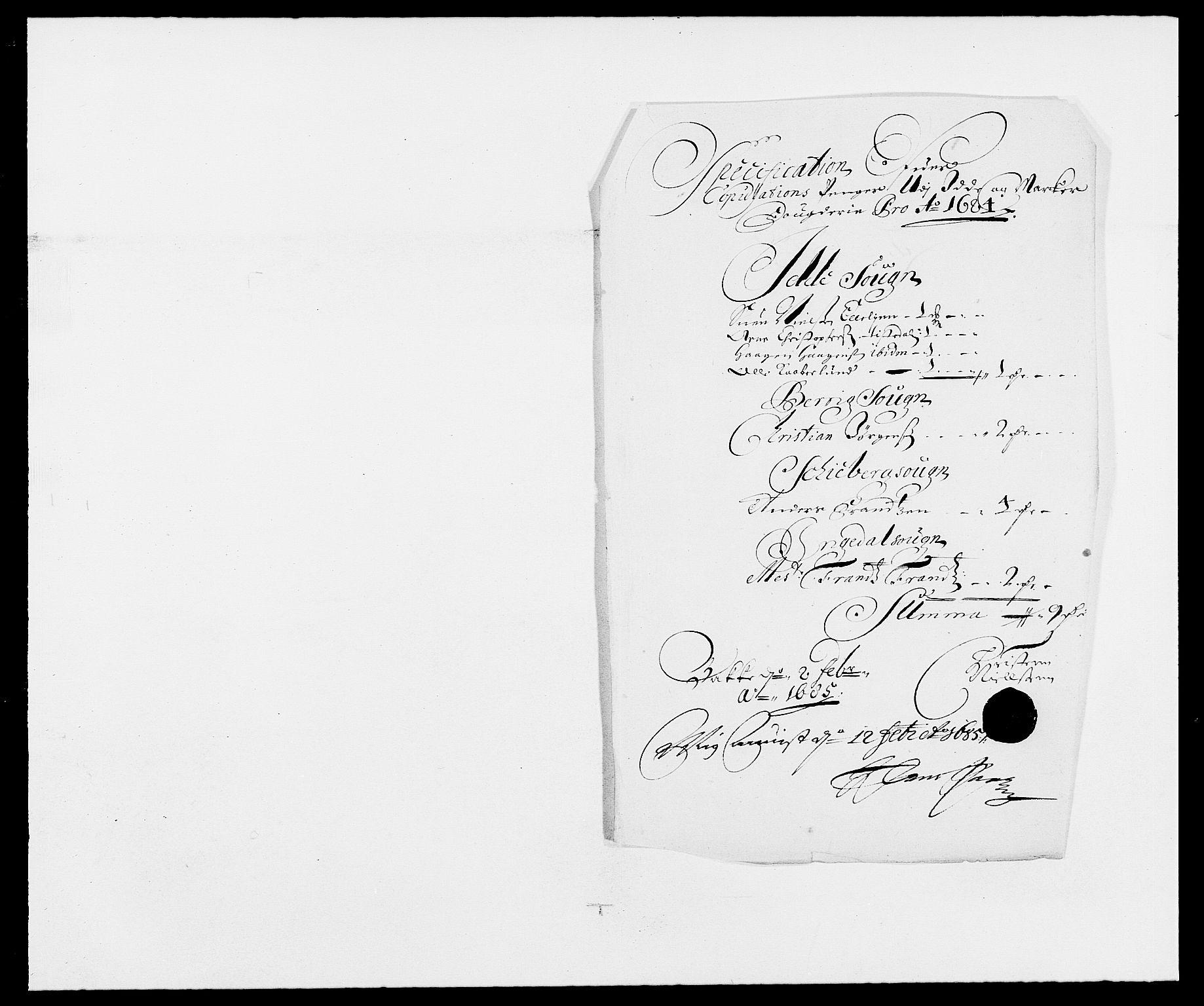 RA, Rentekammeret inntil 1814, Reviderte regnskaper, Fogderegnskap, R01/L0005: Fogderegnskap Idd og Marker , 1682-1684, s. 193