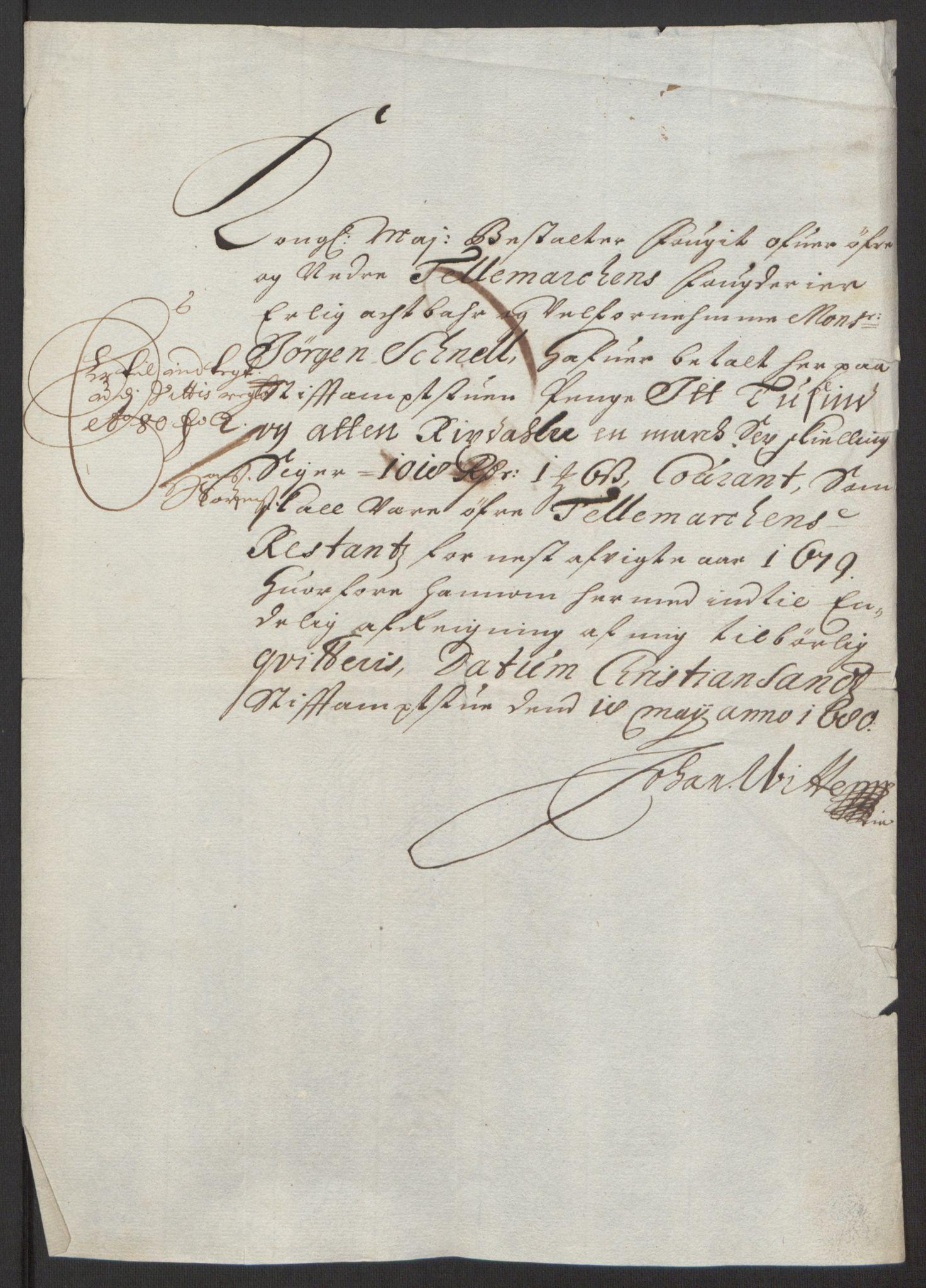 RA, Rentekammeret inntil 1814, Reviderte regnskaper, Fogderegnskap, R35/L2081: Fogderegnskap Øvre og Nedre Telemark, 1680-1684, s. 344