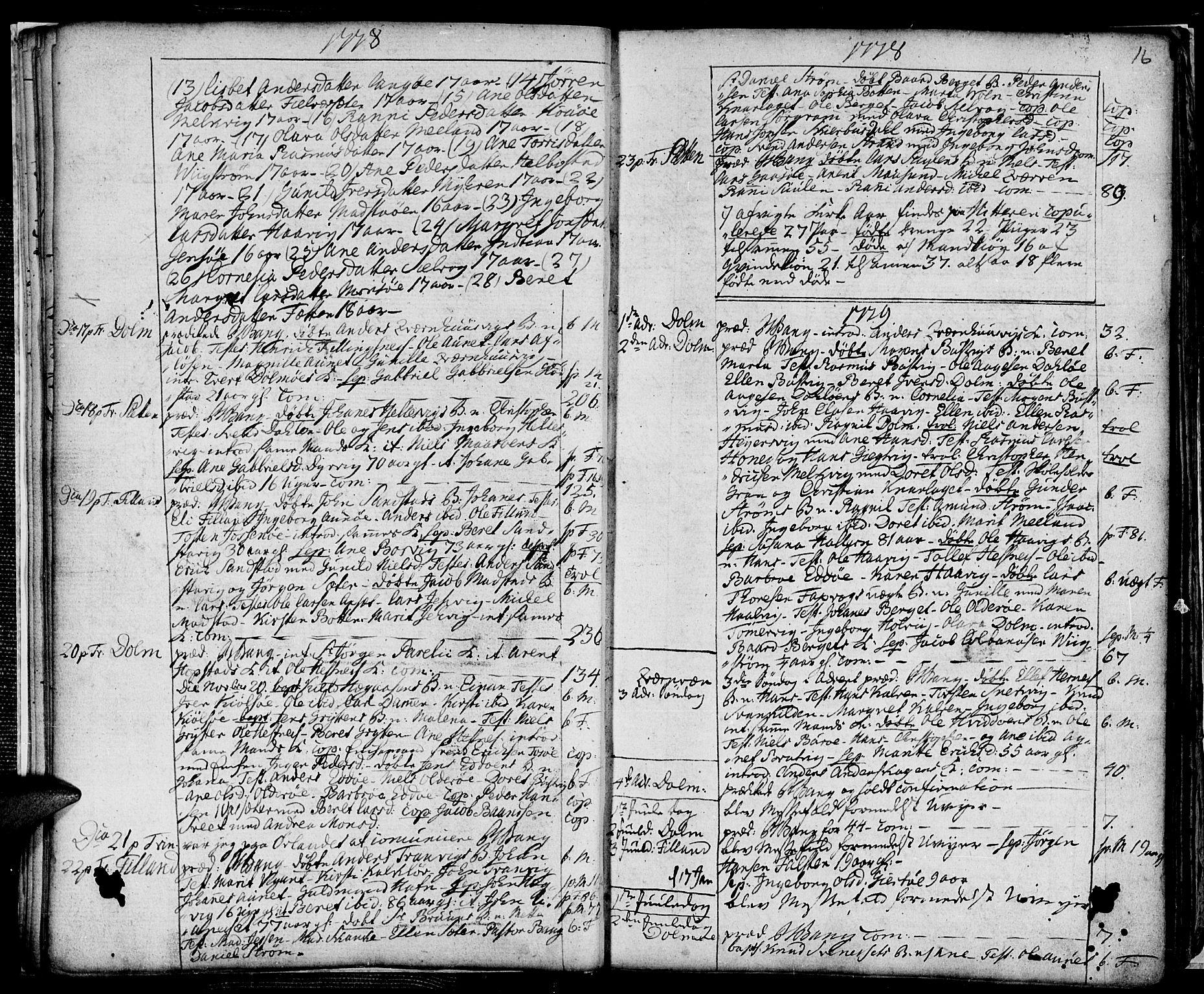 SAT, Ministerialprotokoller, klokkerbøker og fødselsregistre - Sør-Trøndelag, 634/L0526: Ministerialbok nr. 634A02, 1775-1818, s. 16