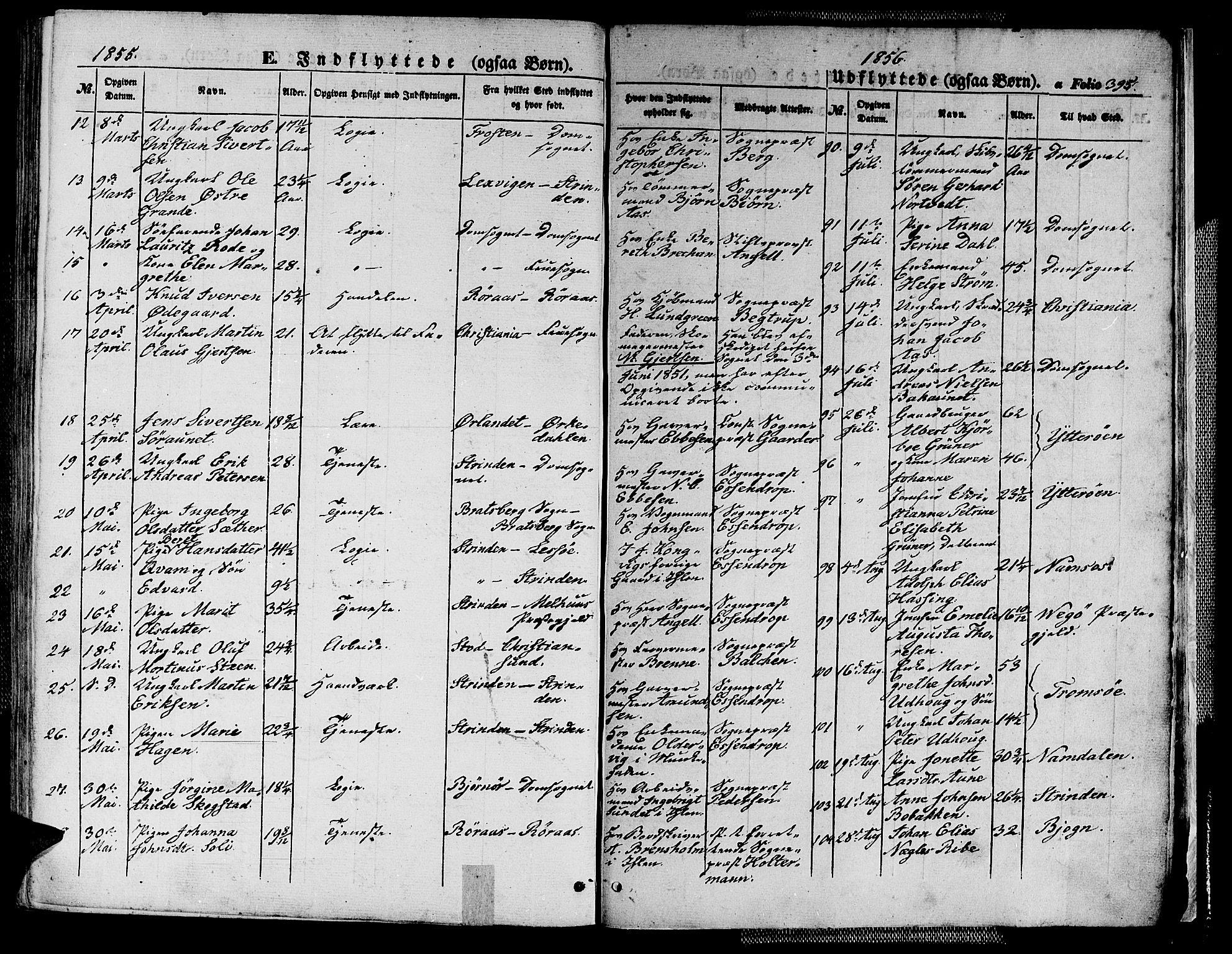 SAT, Ministerialprotokoller, klokkerbøker og fødselsregistre - Sør-Trøndelag, 602/L0137: Klokkerbok nr. 602C05, 1846-1856, s. 395