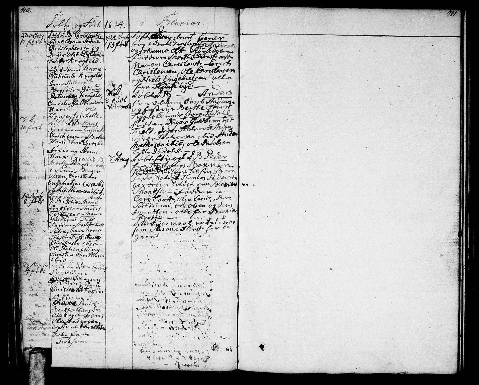 SAO, Aurskog prestekontor Kirkebøker, F/Fa/L0004: Ministerialbok nr. I 4, 1807-1814, s. 410-411