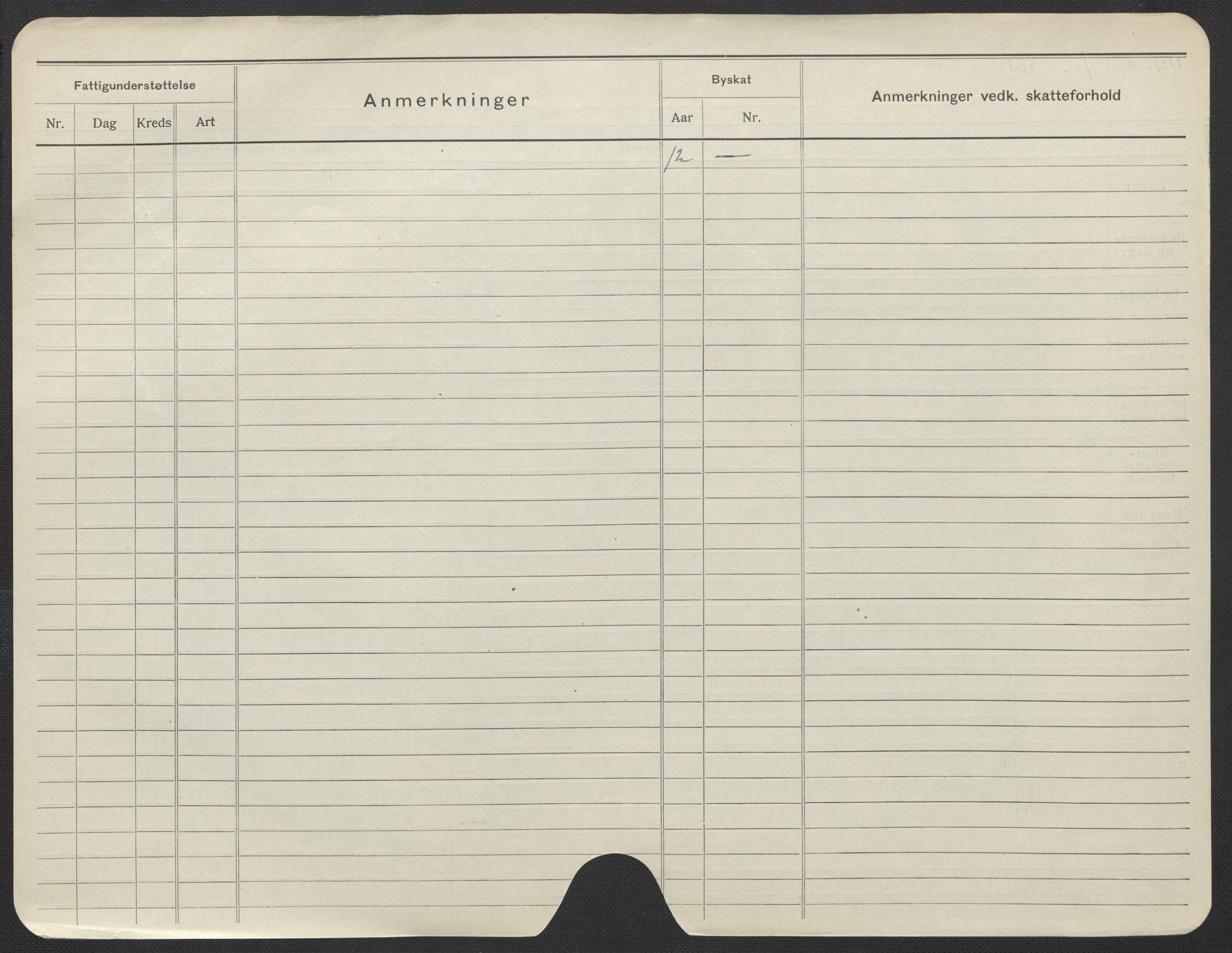 SAO, Oslo folkeregister, Registerkort, F/Fa/Fac/L0021: Kvinner, 1906-1914, s. 501b