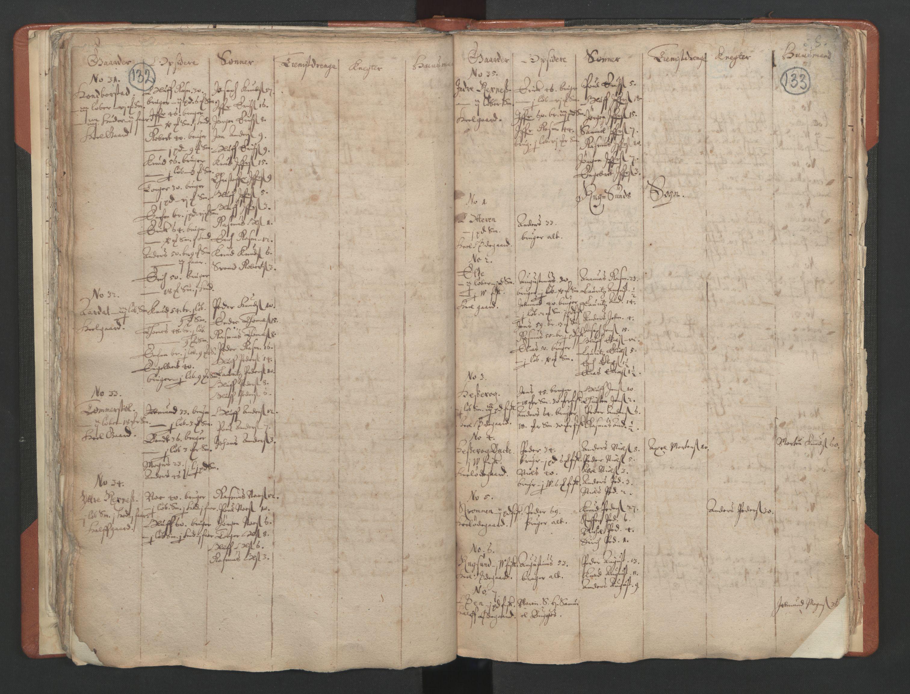 RA, Sogneprestenes manntall 1664-1666, nr. 25: Nordfjord prosti, 1664-1666, s. 132-133