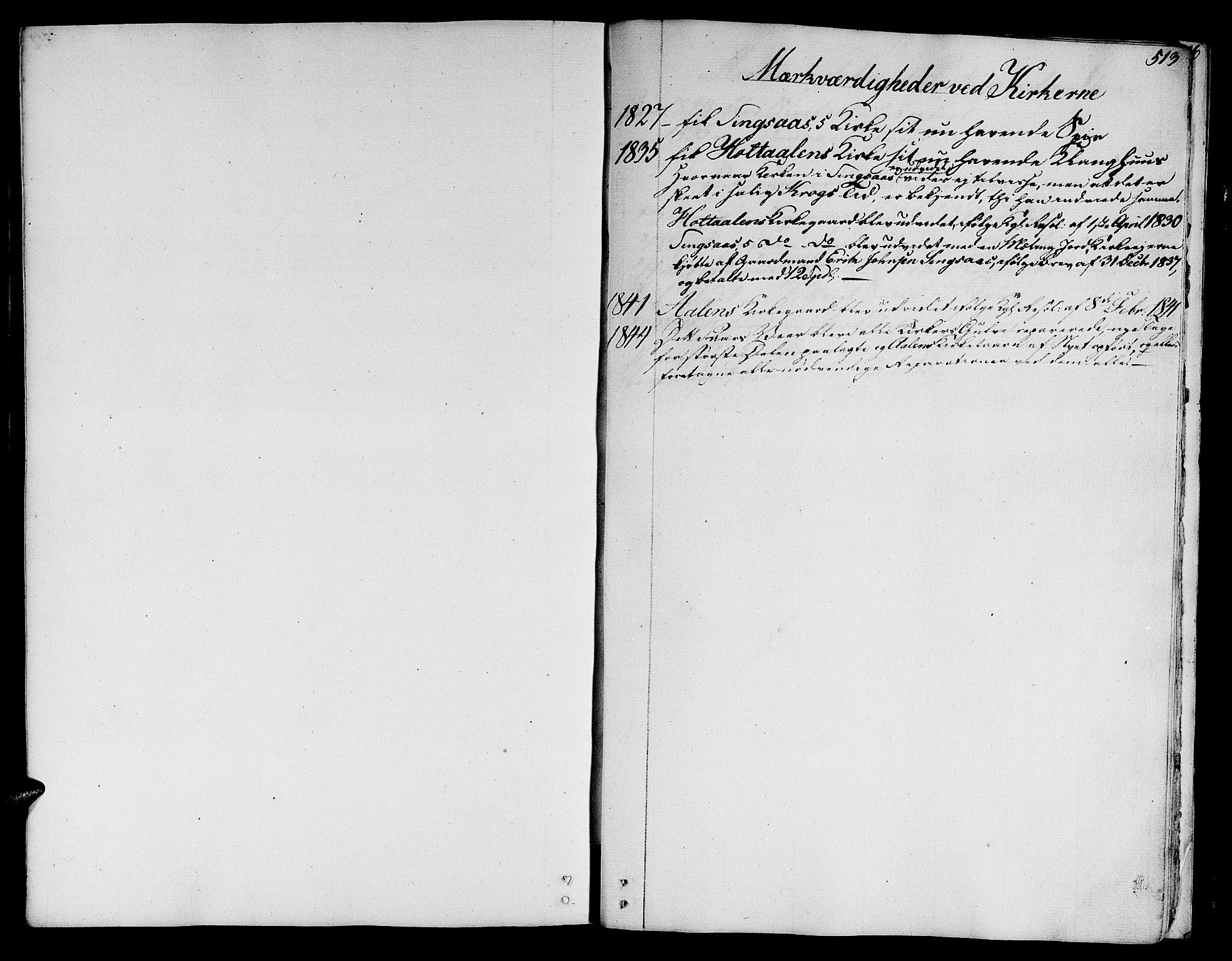 SAT, Ministerialprotokoller, klokkerbøker og fødselsregistre - Sør-Trøndelag, 685/L0960: Ministerialbok nr. 685A05 /1, 1829-1845, s. 513