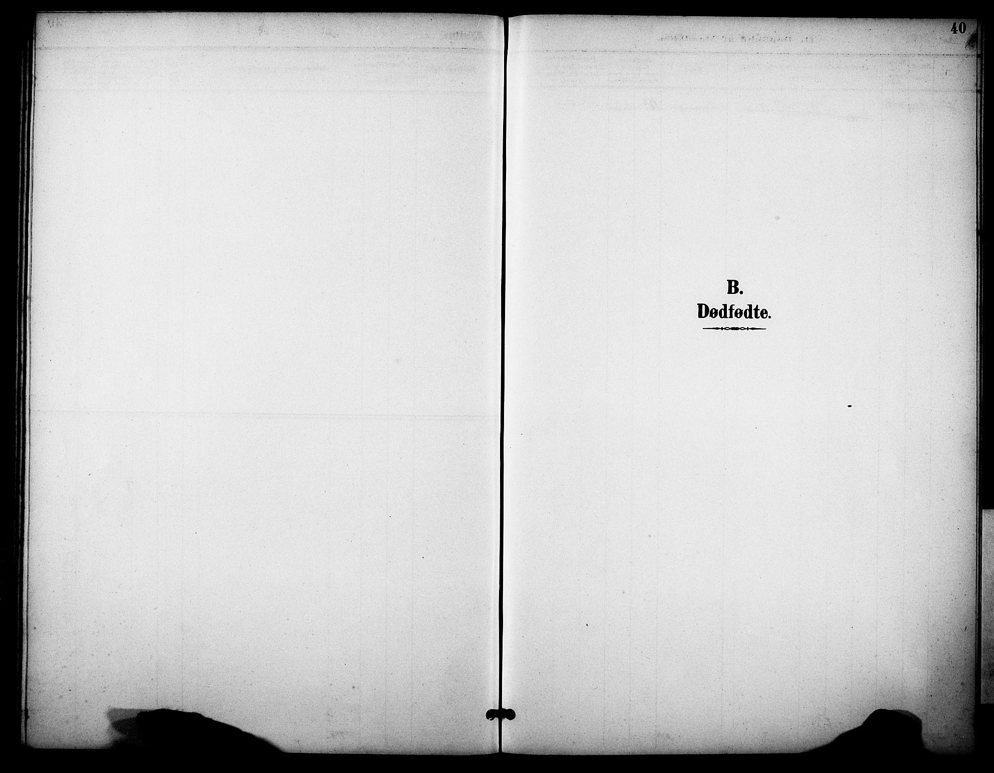 SAKO, Skåtøy kirkebøker, G/Gb/L0001: Klokkerbok nr. II 1, 1892-1916, s. 40