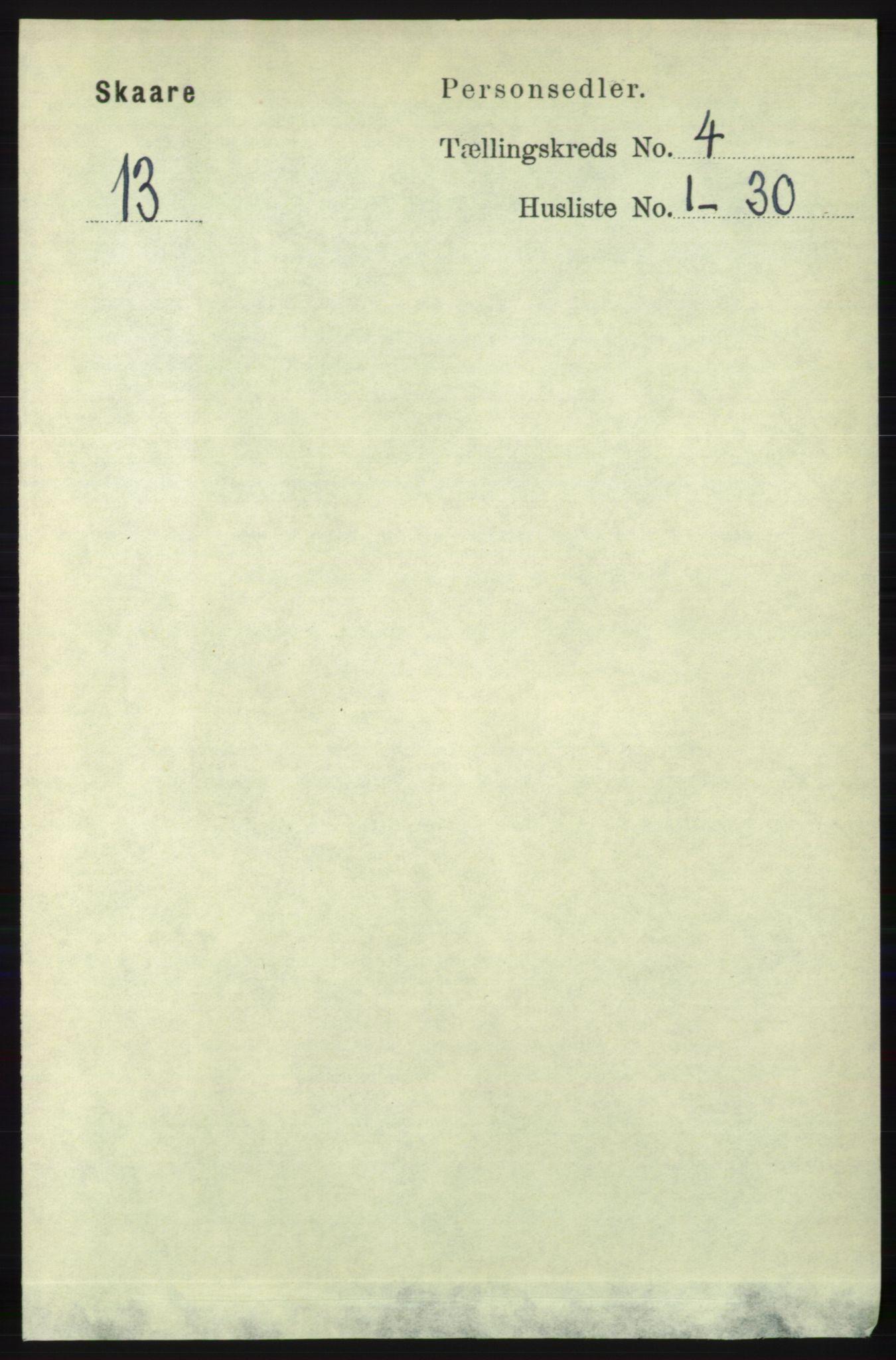RA, Folketelling 1891 for 1153 Skåre herred, 1891, s. 1753