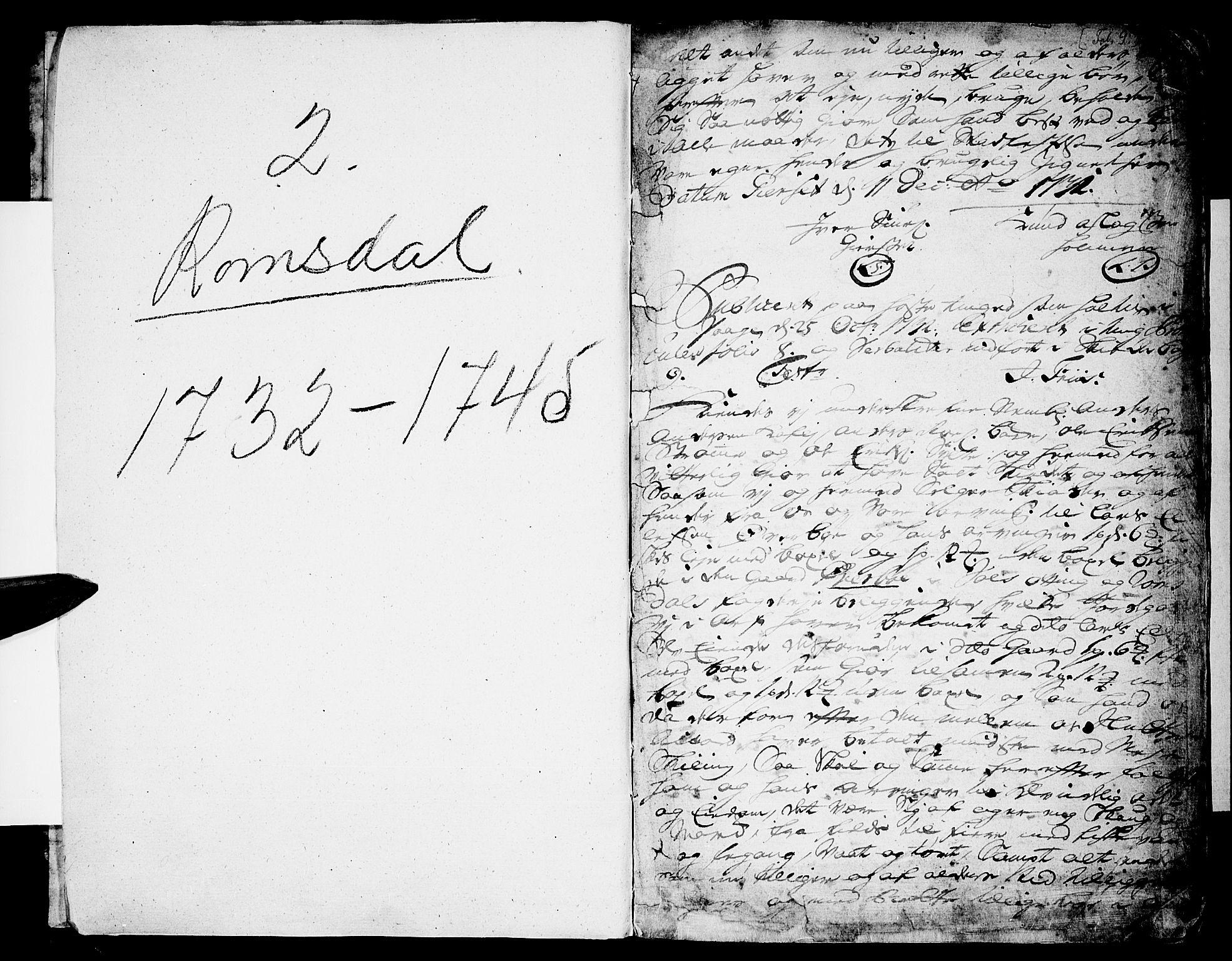 SAT, Romsdal sorenskriveri, 2/2C/L0002: Pantebok nr. 2, 1731-1745, s. 9