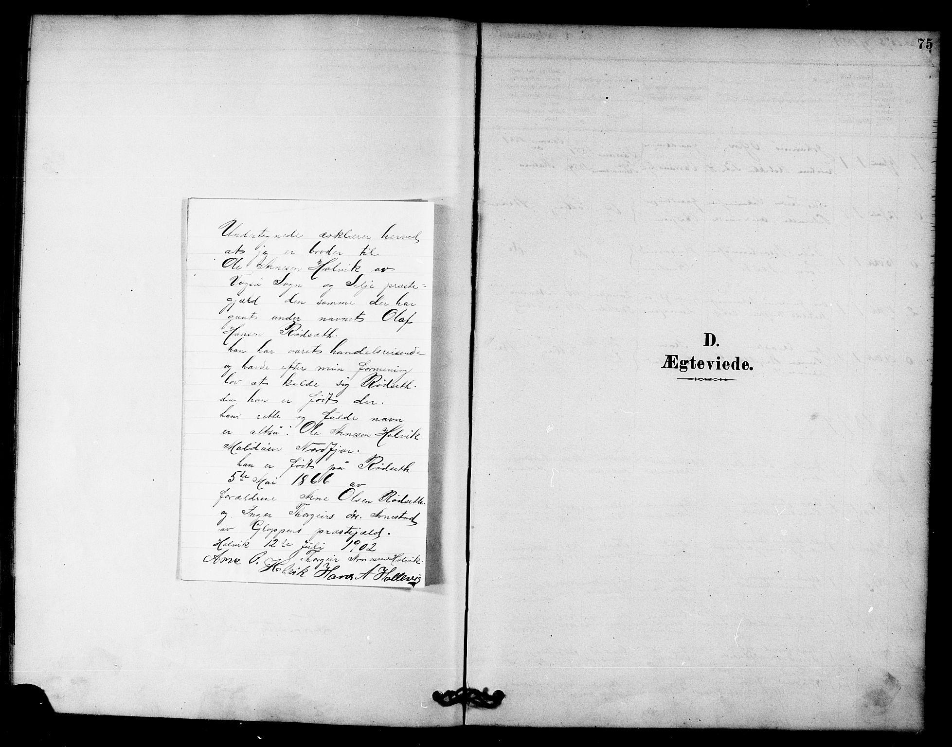 SAT, Ministerialprotokoller, klokkerbøker og fødselsregistre - Nord-Trøndelag, 745/L0429: Ministerialbok nr. 745A01, 1878-1894, s. 75