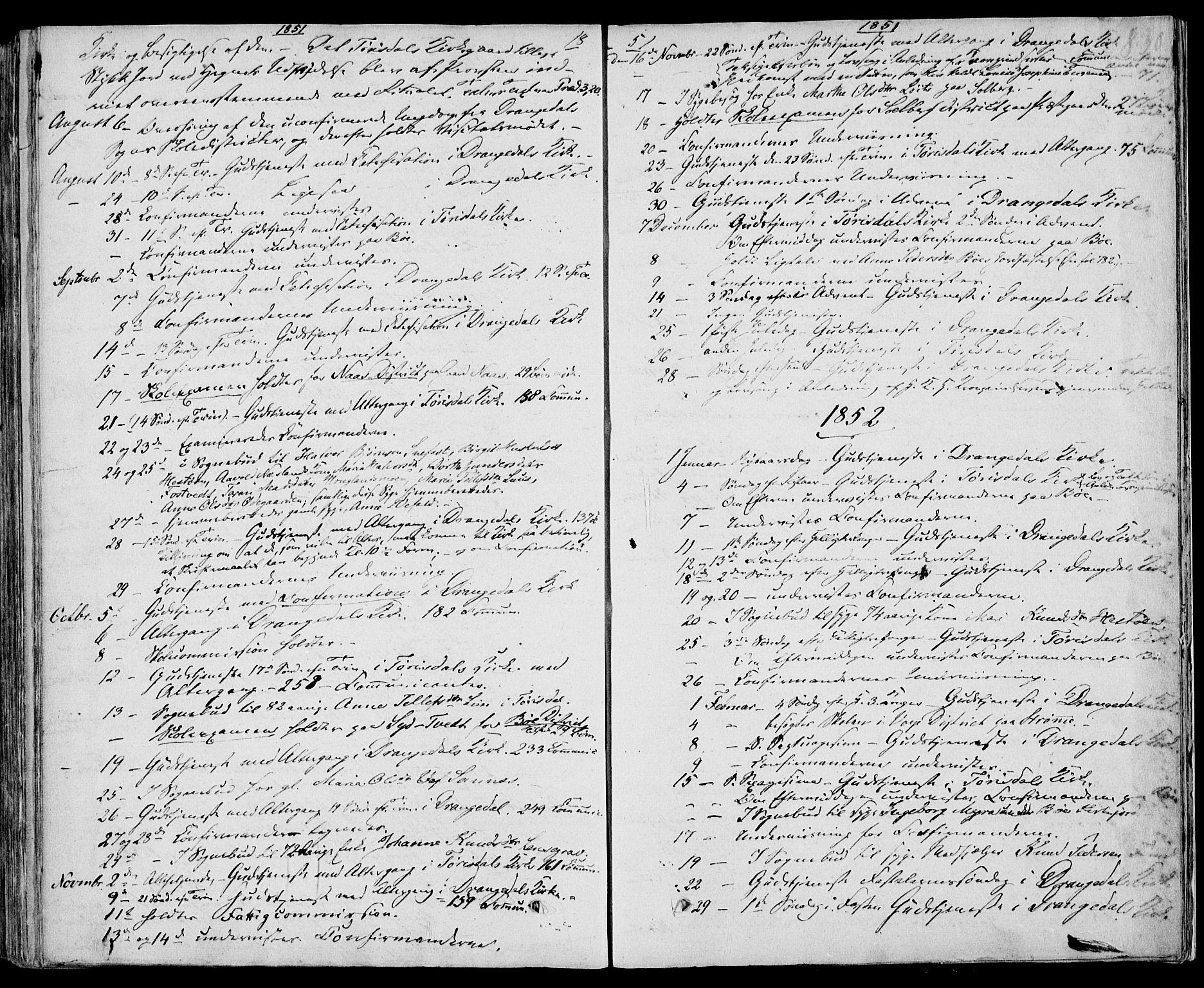 SAKO, Drangedal kirkebøker, F/Fa/L0007b: Ministerialbok nr. 7b, 1837-1856, s. 830
