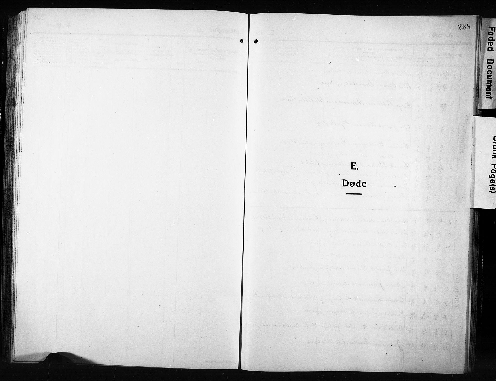 SAH, Vestre Toten prestekontor, Klokkerbok nr. 12, 1909-1928, s. 238