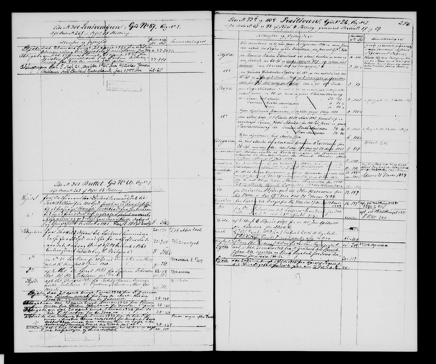 SAH, Sør-Hedmark sorenskriveri, H/Ha/Hac/Hacc/L0001: Panteregister nr. 3.1, 1855-1943, s. 276