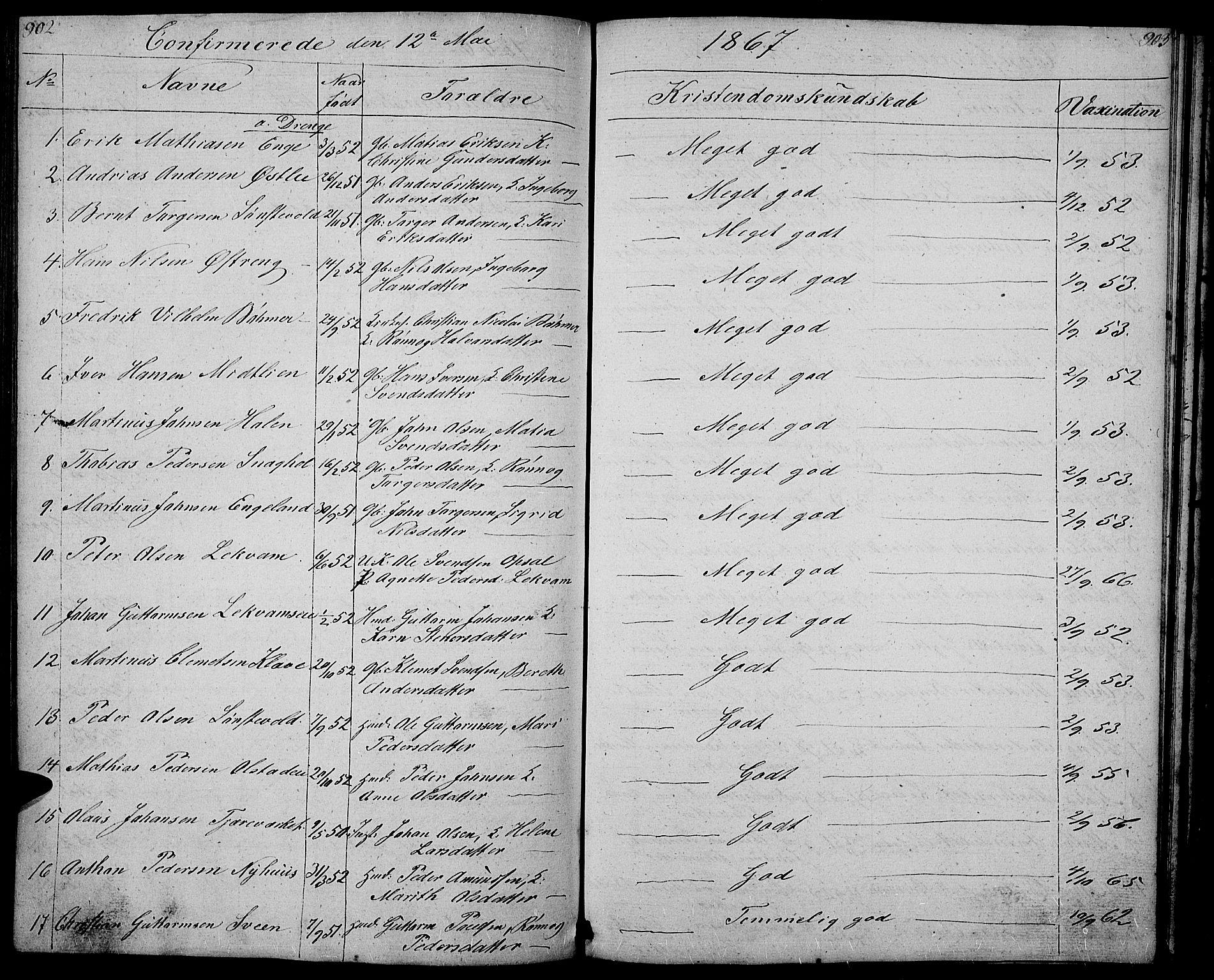 SAH, Gausdal prestekontor, Klokkerbok nr. 4, 1835-1870, s. 902-903