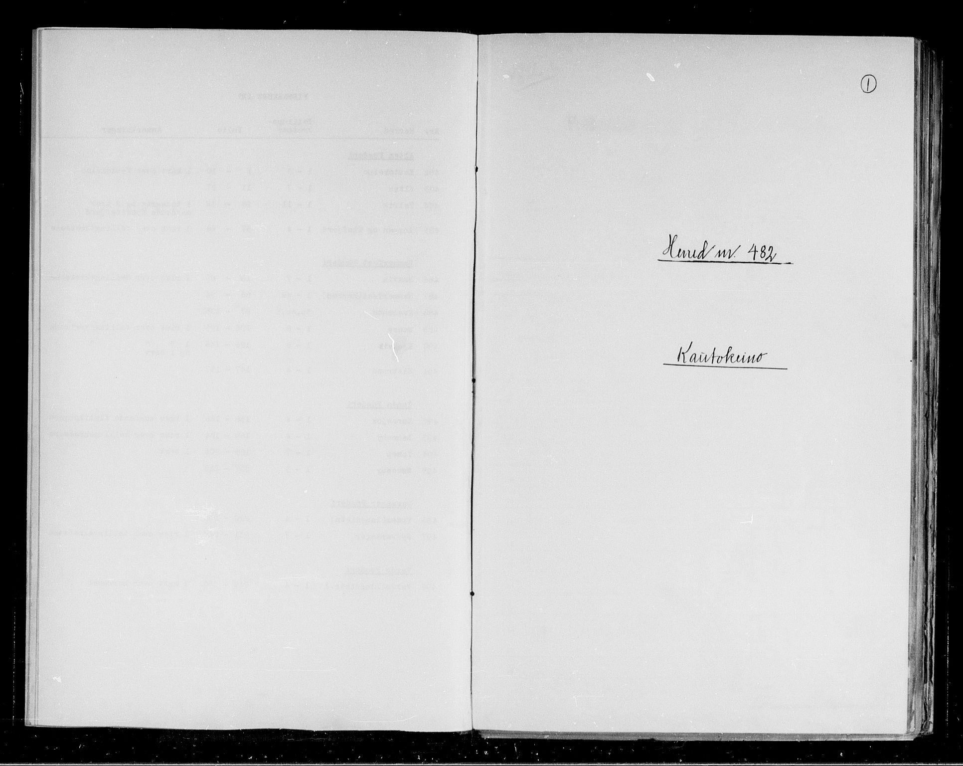 RA, Folketelling 1891 for 2011 Kautokeino herred, 1891, s. 1