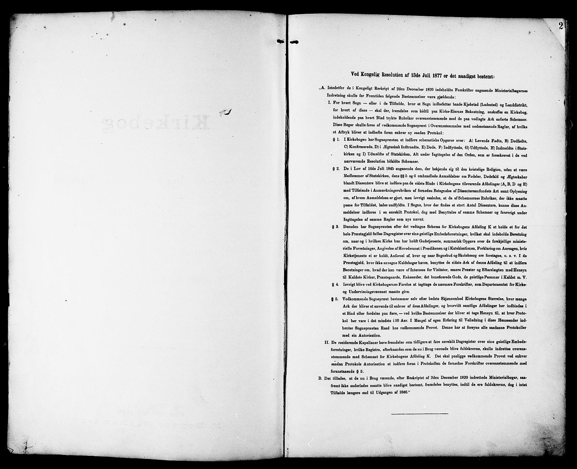 SAT, Ministerialprotokoller, klokkerbøker og fødselsregistre - Sør-Trøndelag, 692/L1111: Klokkerbok nr. 692C06, 1890-1904, s. 2