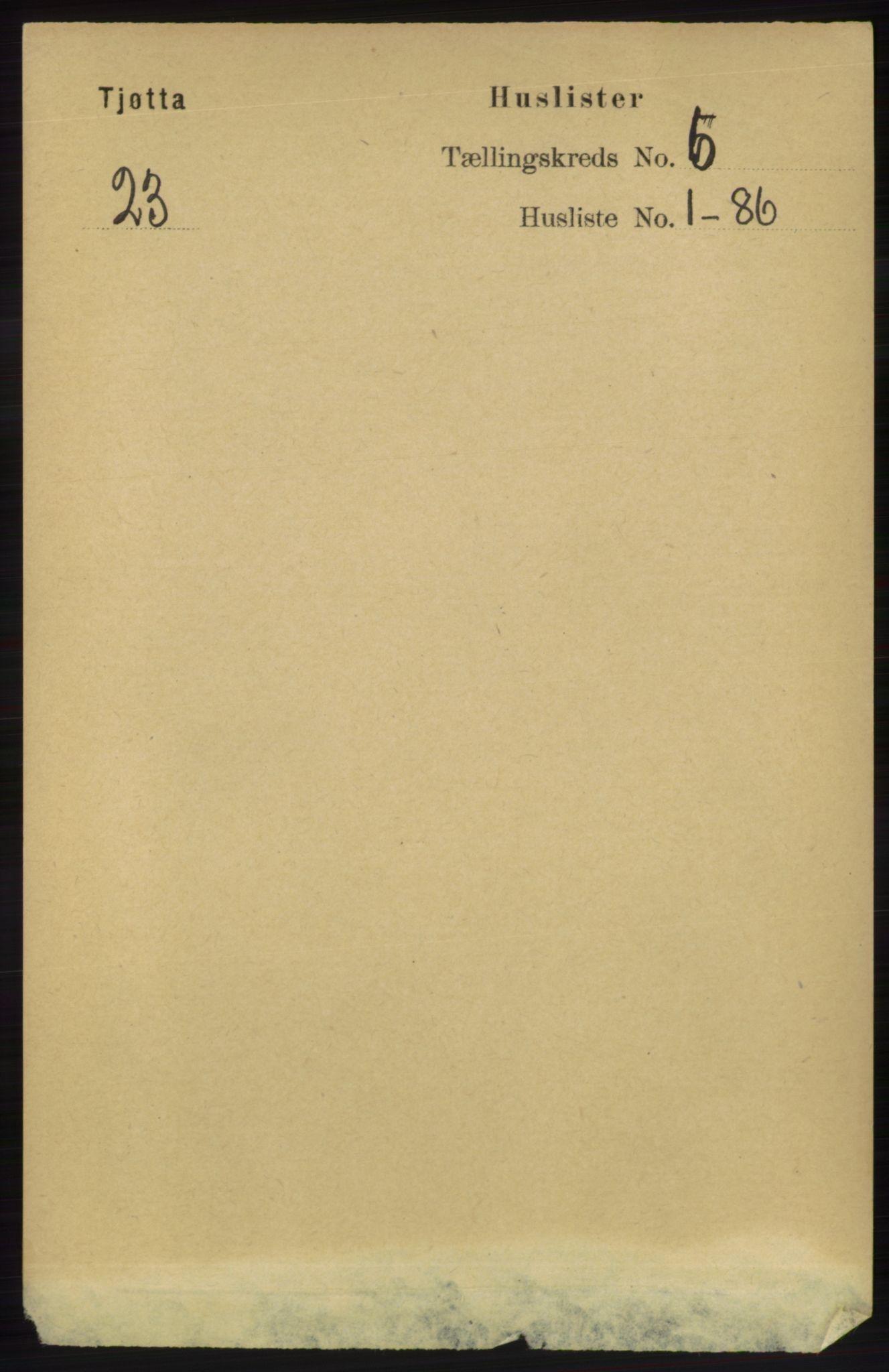 RA, Folketelling 1891 for 1817 Tjøtta herred, 1891, s. 2782