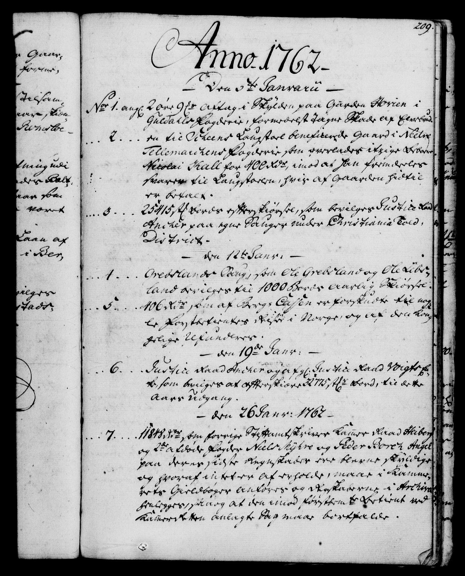 RA, Rentekammeret, Kammerkanselliet, G/Gf/Gfb/L0006: Register til norske relasjons- og resolusjonsprotokoller (merket RK 52.101), 1755-1765, s. 209