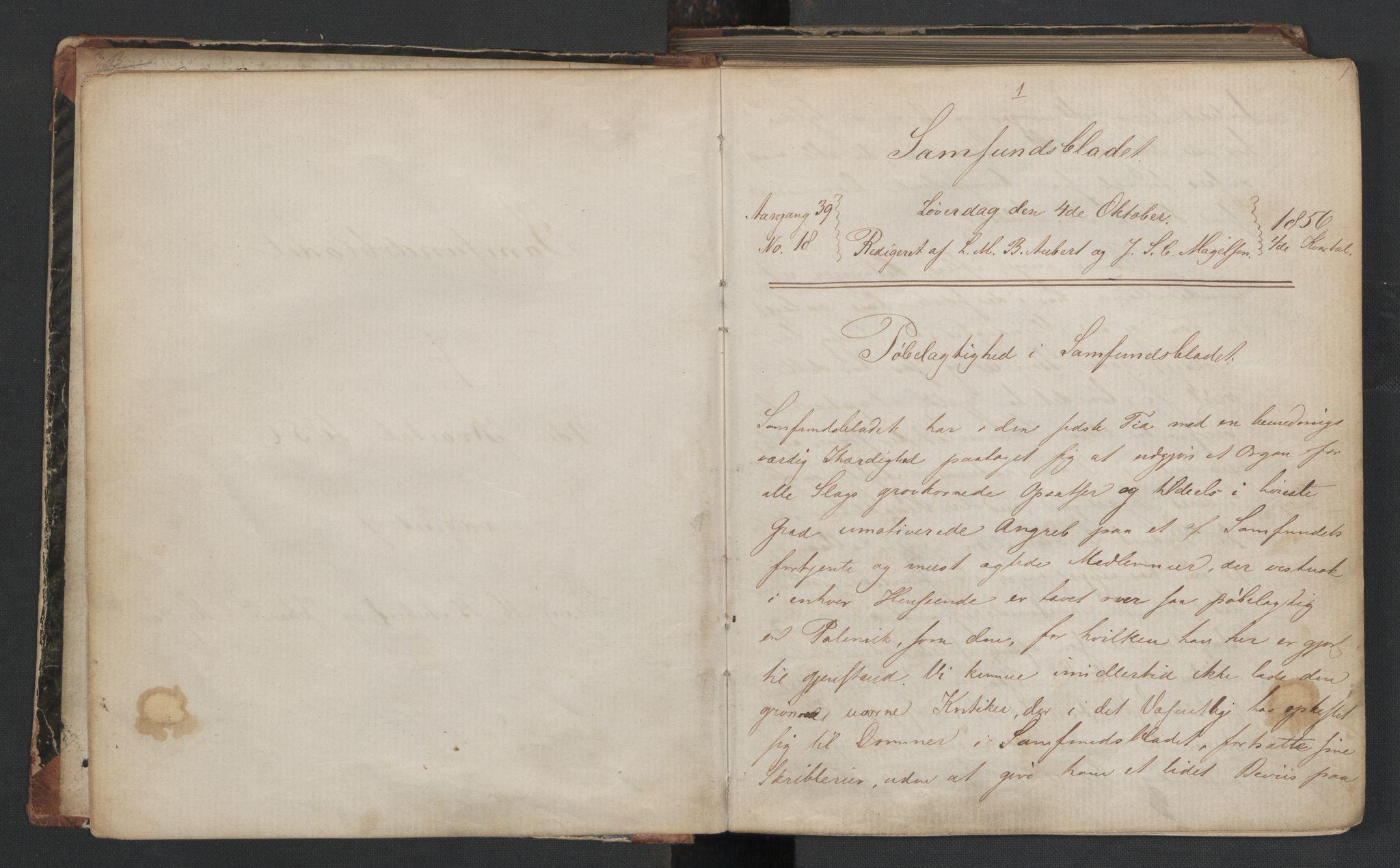RA, Det Norske Studentersamfund, X/Xa/L0006, 1856-1857, s. 4