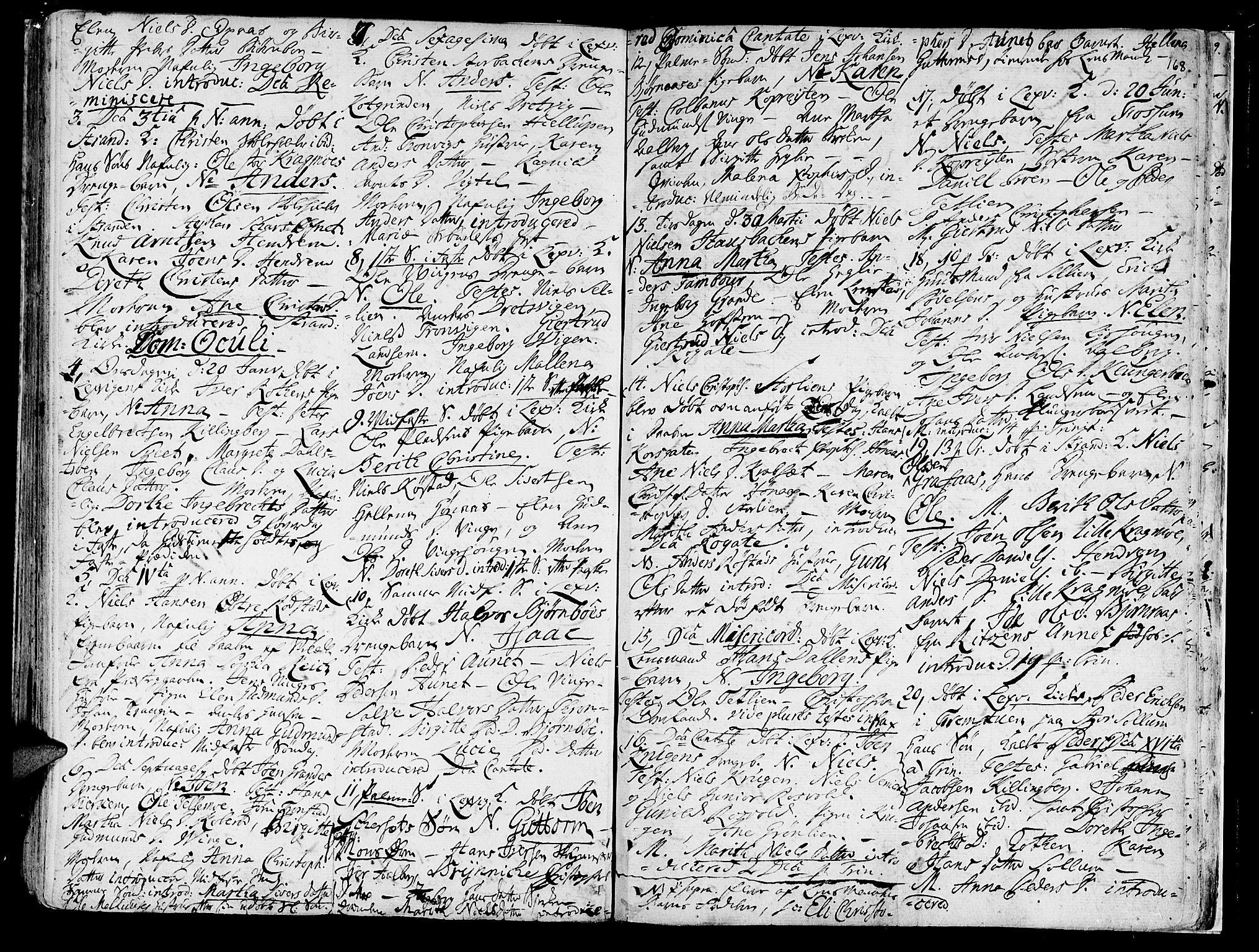 SAT, Ministerialprotokoller, klokkerbøker og fødselsregistre - Nord-Trøndelag, 701/L0003: Ministerialbok nr. 701A03, 1751-1783, s. 168
