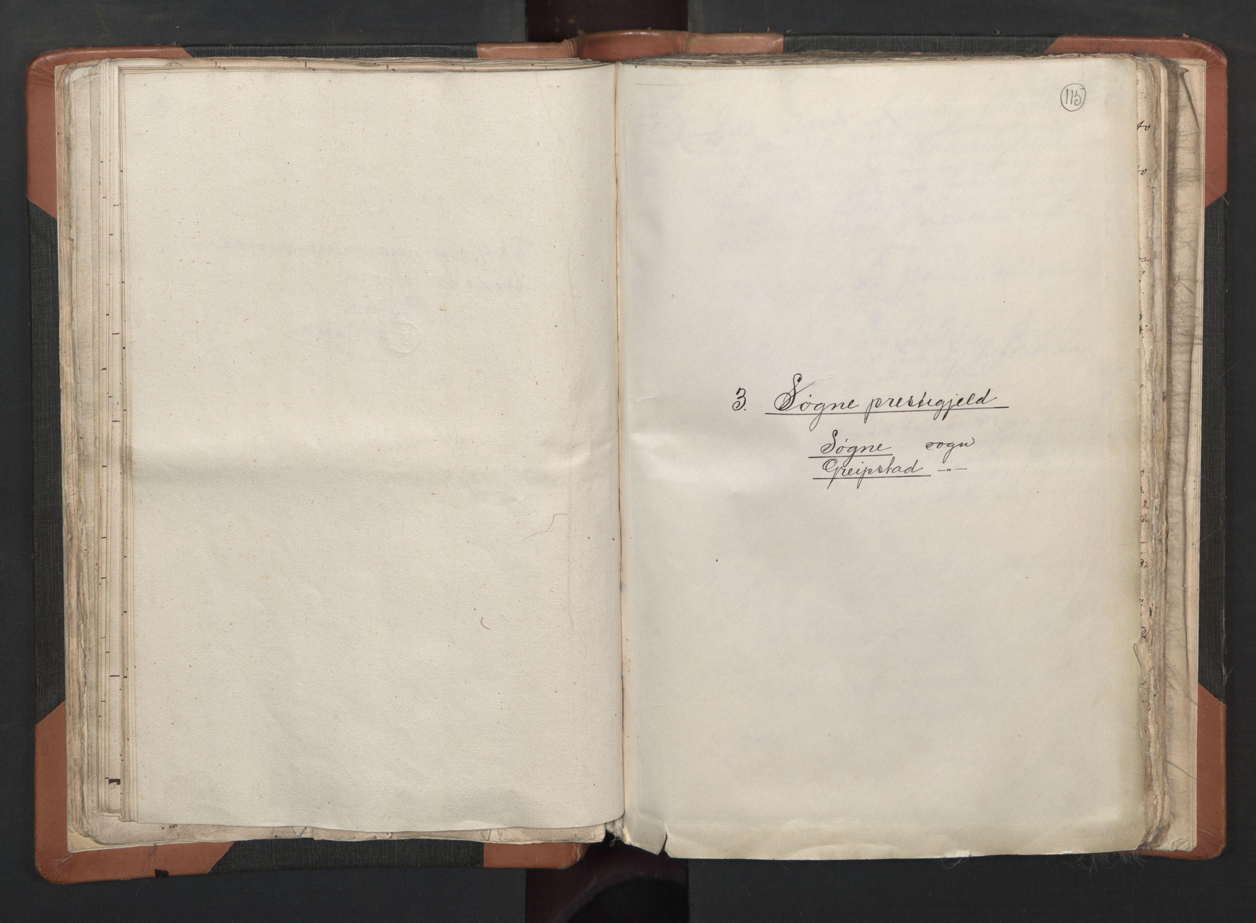 RA, Sogneprestenes manntall 1664-1666, nr. 15: Mandal prosti, 1664-1666, s. 115