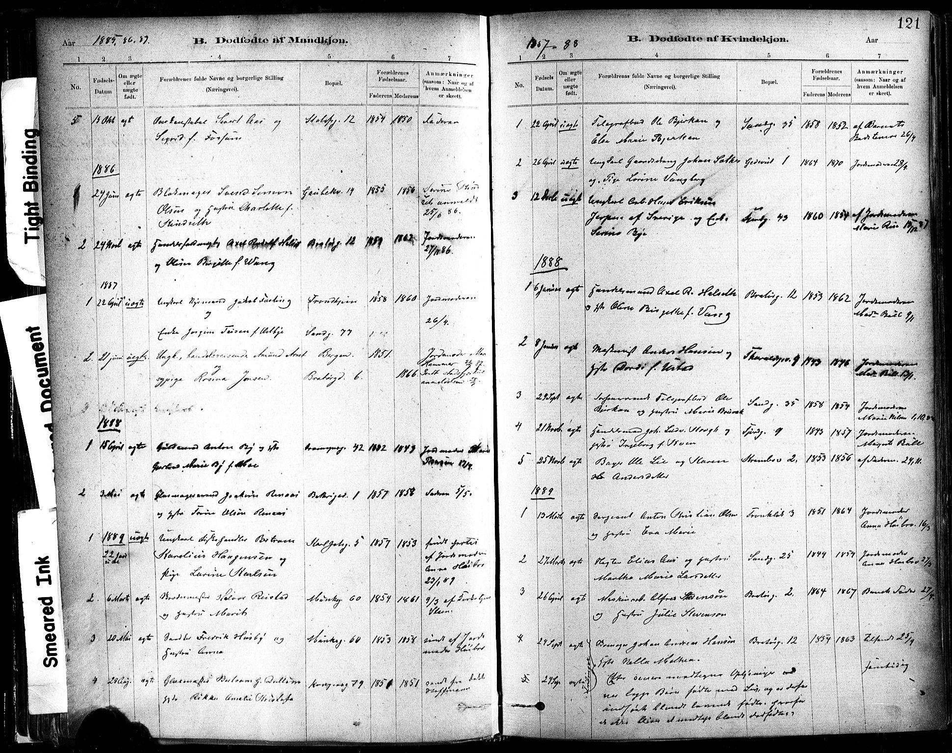 SAT, Ministerialprotokoller, klokkerbøker og fødselsregistre - Sør-Trøndelag, 602/L0119: Ministerialbok nr. 602A17, 1880-1901, s. 121