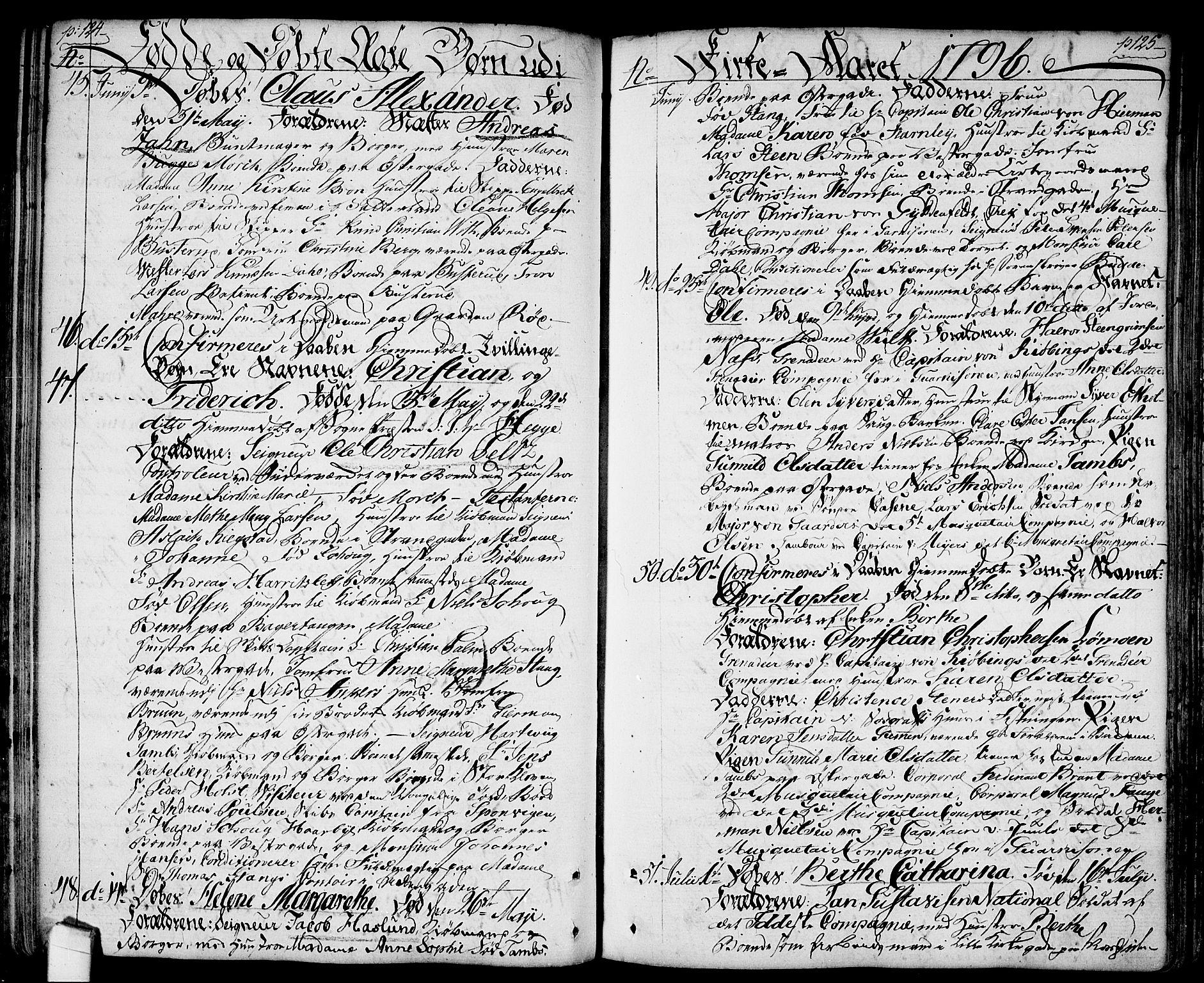SAO, Halden prestekontor Kirkebøker, F/Fa/L0002: Ministerialbok nr. I 2, 1792-1812, s. 124-125