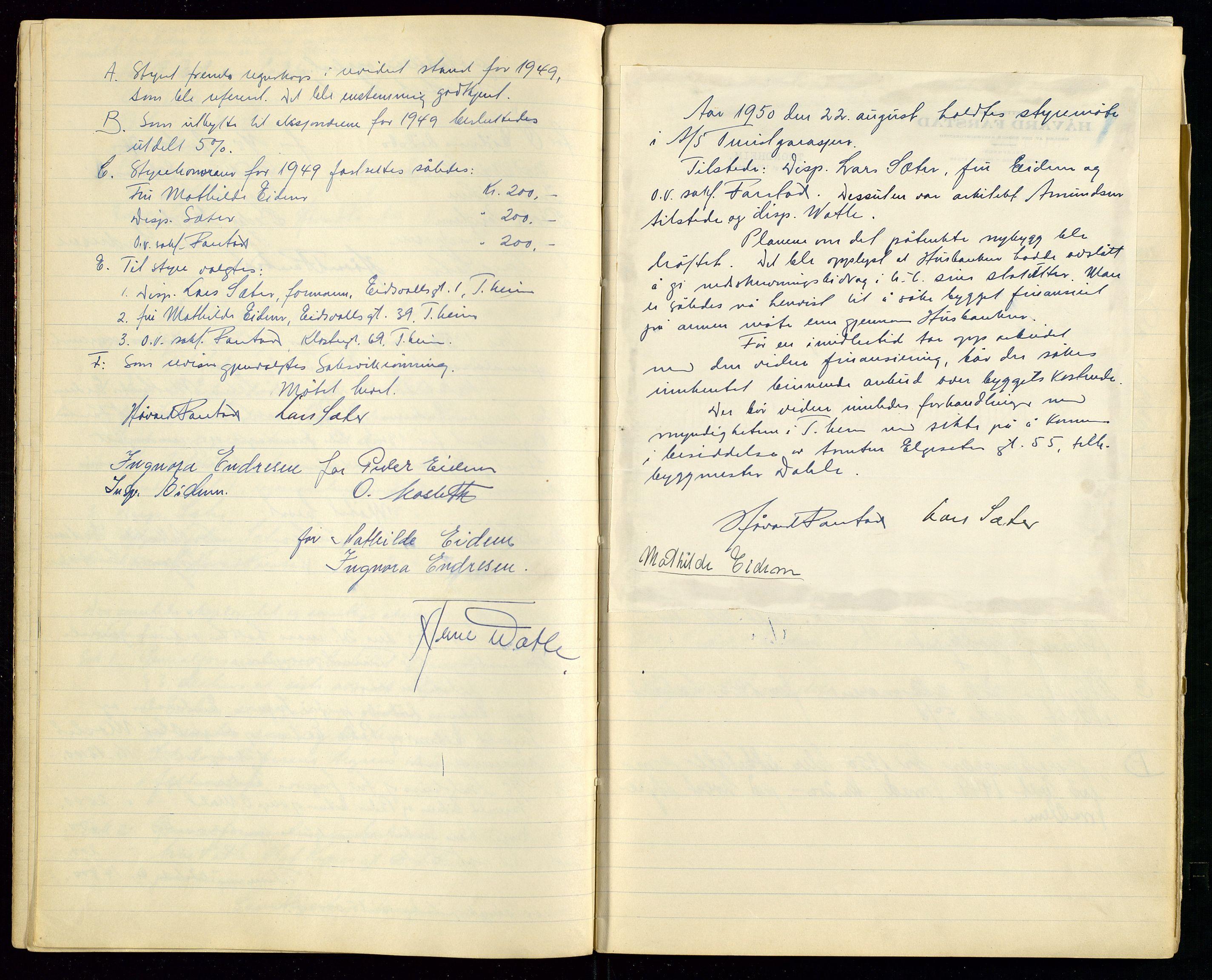 SAST, PA 1515 - Turistgarasjen A/S, A/L0001: Forhandlingsprotokoll, 1937-1958, s. 15