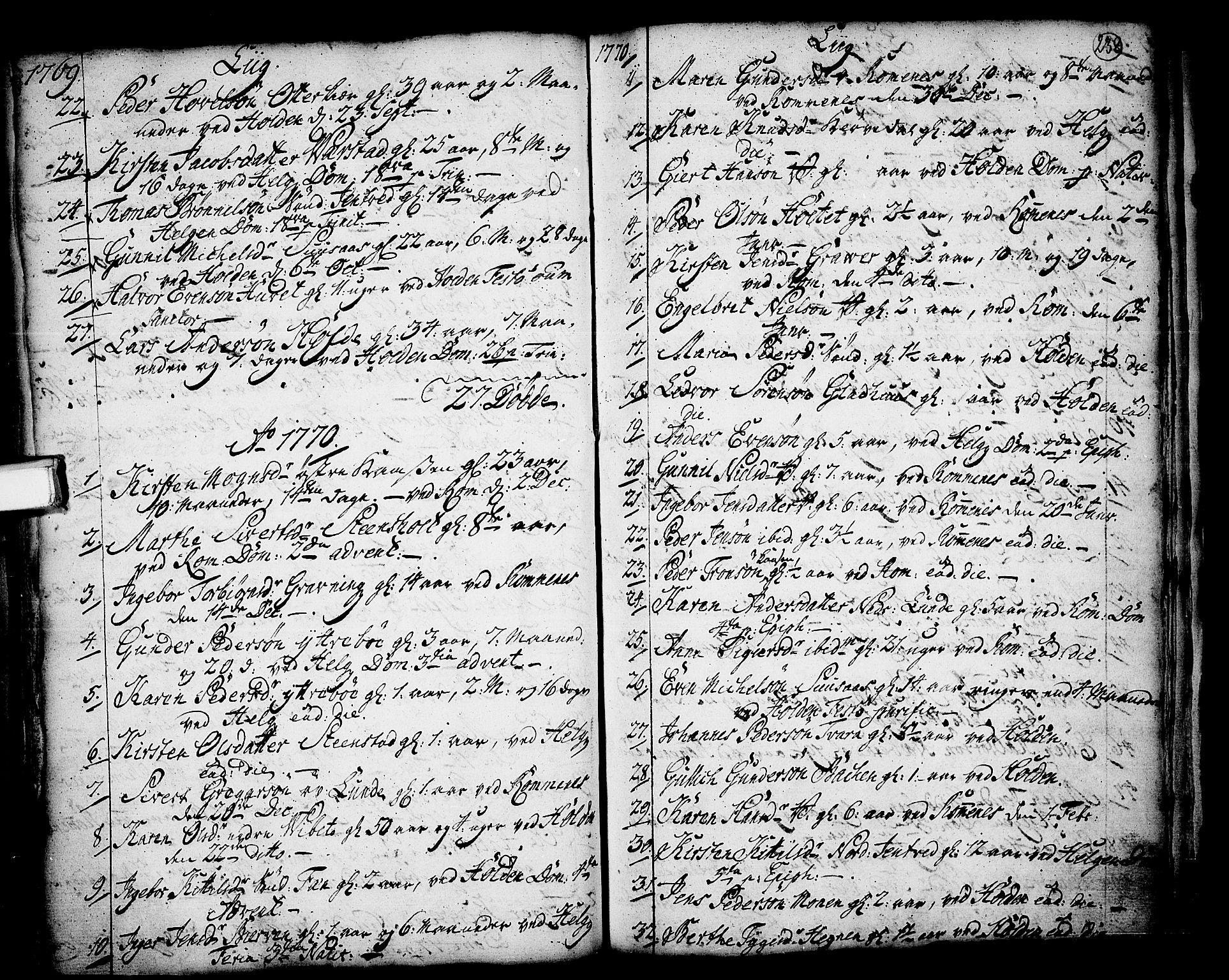 SAKO, Holla kirkebøker, F/Fa/L0001: Ministerialbok nr. 1, 1717-1779, s. 238