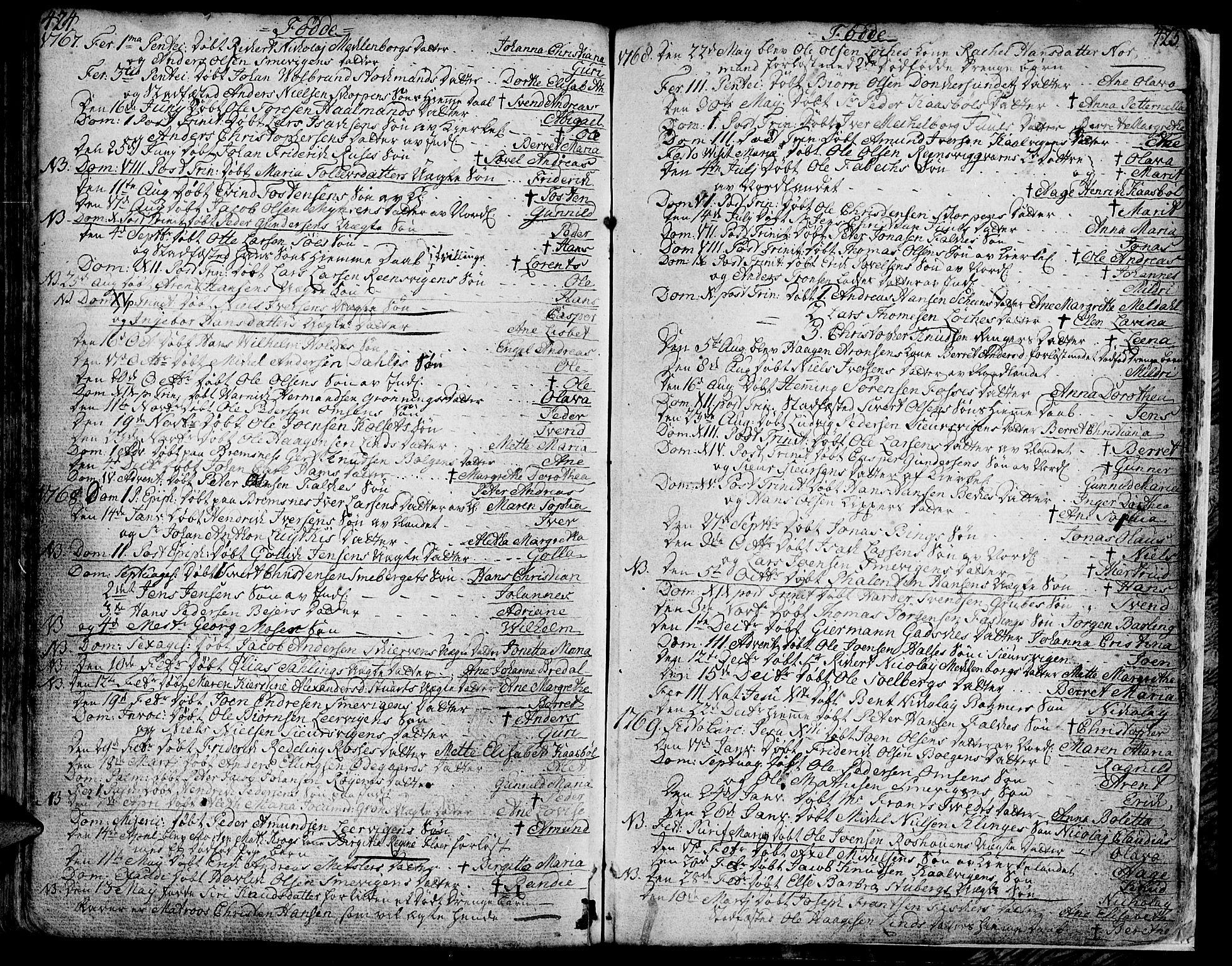 SAT, Ministerialprotokoller, klokkerbøker og fødselsregistre - Møre og Romsdal, 572/L0840: Ministerialbok nr. 572A03, 1754-1784, s. 424-425