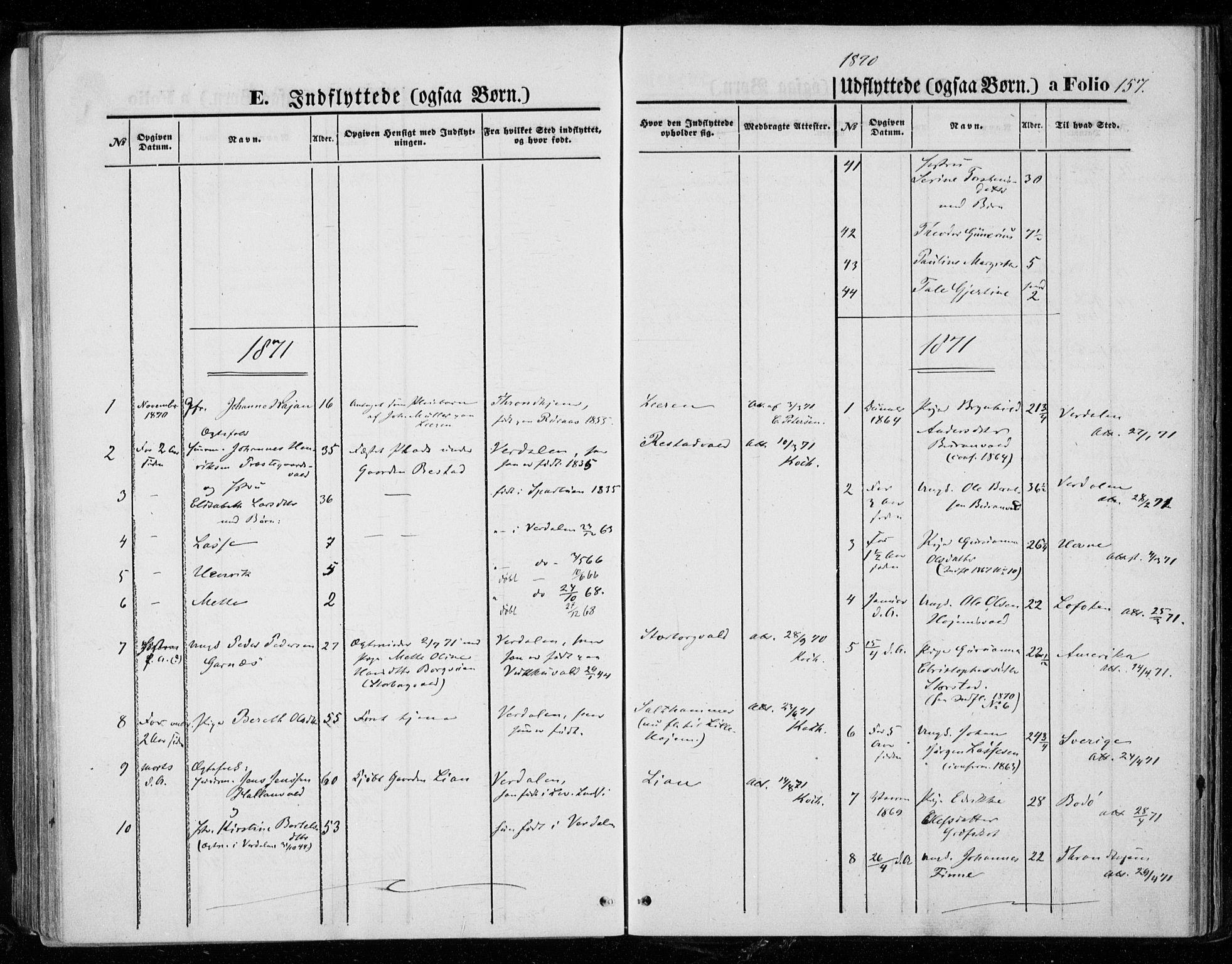 SAT, Ministerialprotokoller, klokkerbøker og fødselsregistre - Nord-Trøndelag, 721/L0206: Ministerialbok nr. 721A01, 1864-1874, s. 157