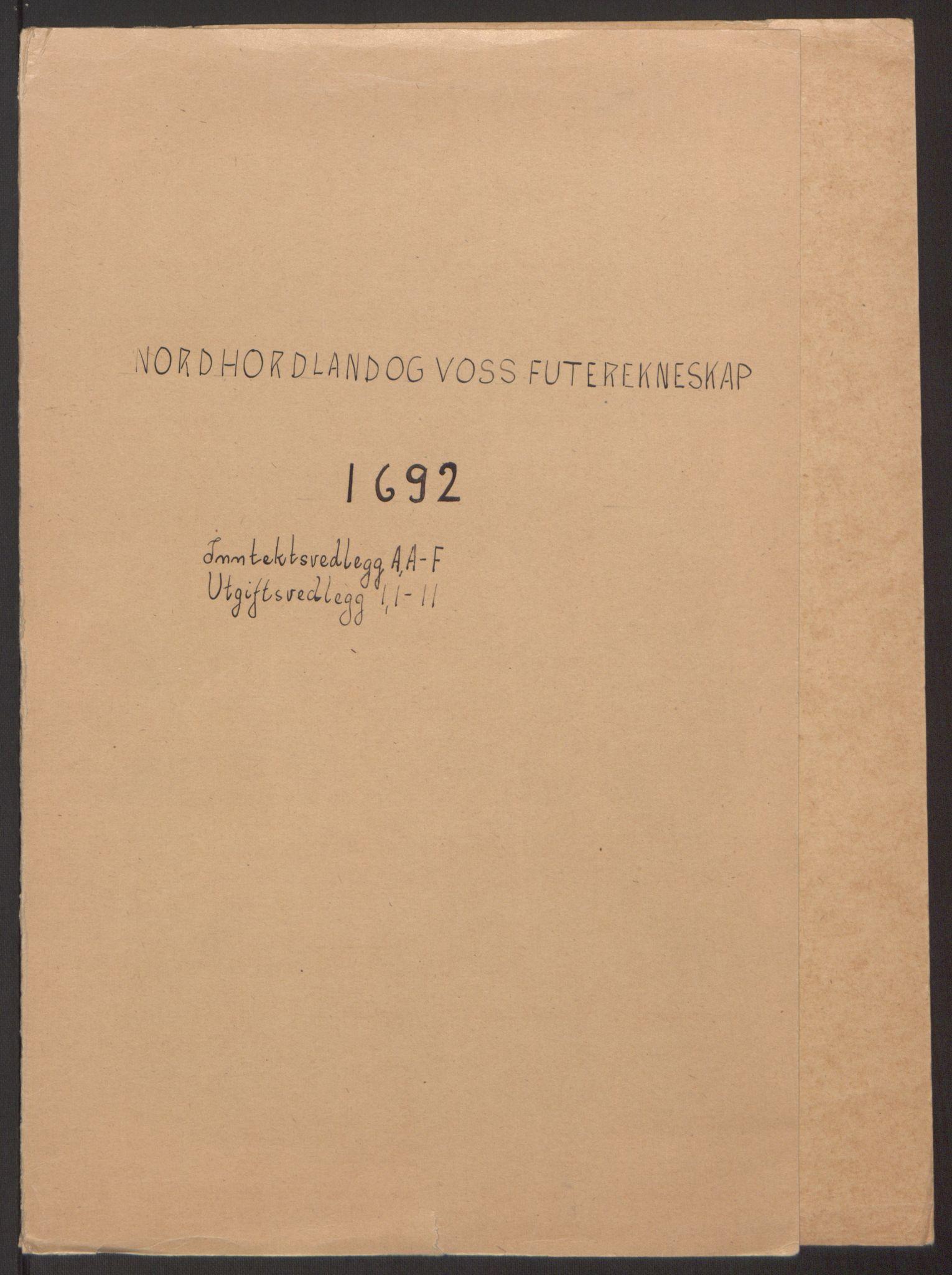 RA, Rentekammeret inntil 1814, Reviderte regnskaper, Fogderegnskap, R51/L3181: Fogderegnskap Nordhordland og Voss, 1691-1692, s. 195