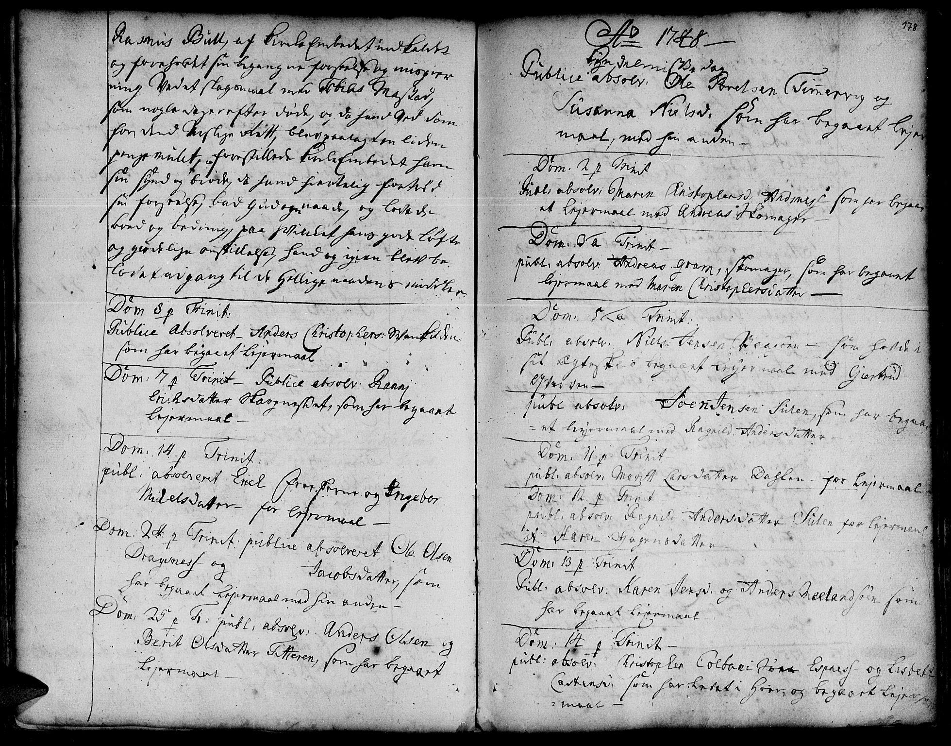 SAT, Ministerialprotokoller, klokkerbøker og fødselsregistre - Sør-Trøndelag, 634/L0525: Ministerialbok nr. 634A01, 1736-1775, s. 178