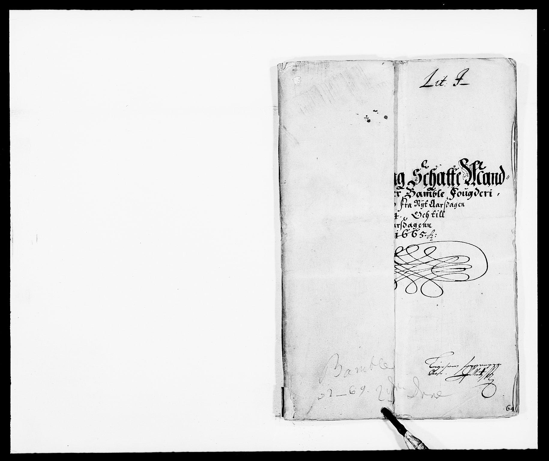 RA, Rentekammeret inntil 1814, Reviderte regnskaper, Fogderegnskap, R34/L2038: Fogderegnskap Bamble, 1662-1669, s. 6