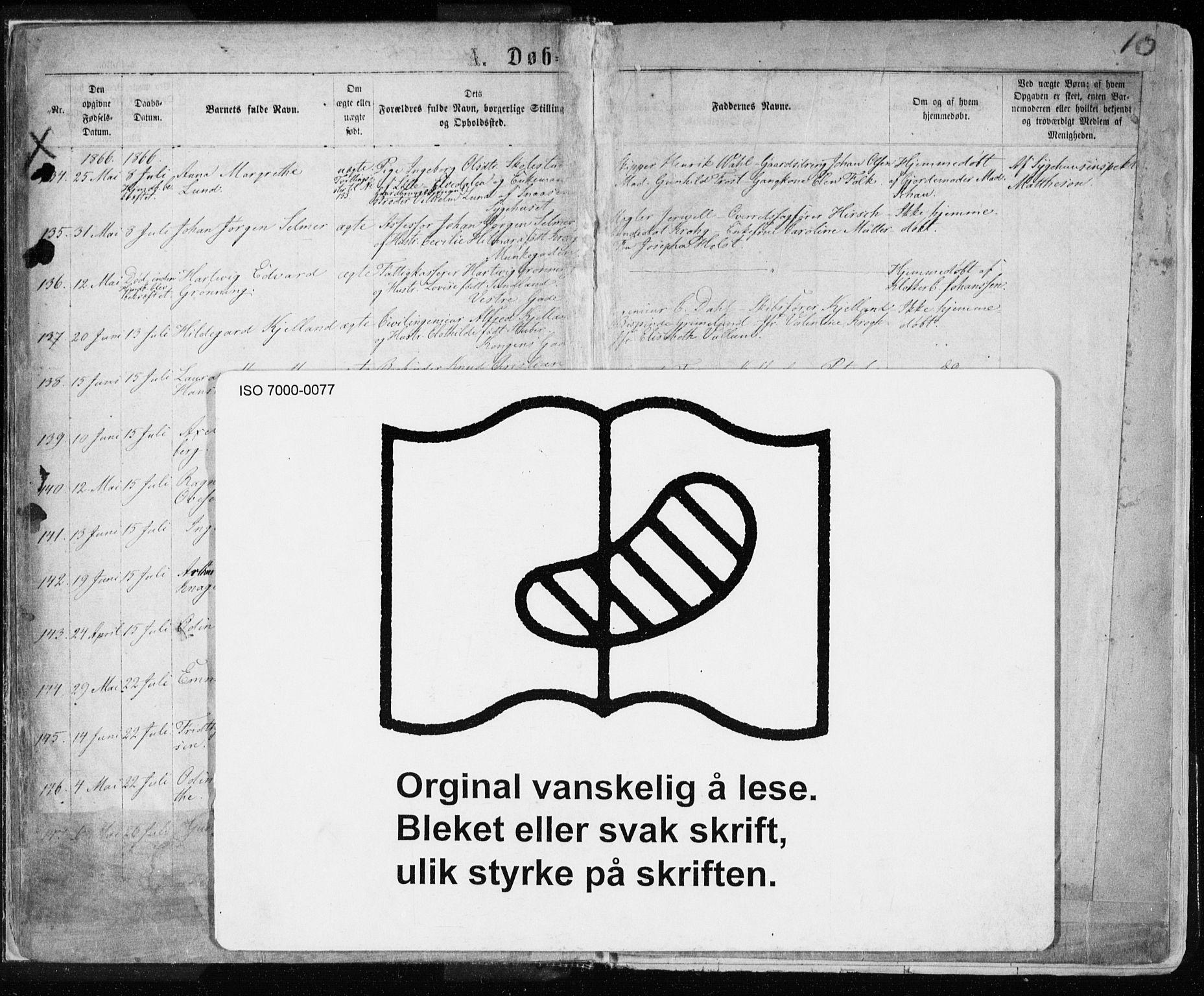 SAT, Ministerialprotokoller, klokkerbøker og fødselsregistre - Sør-Trøndelag, 601/L0054: Ministerialbok nr. 601A22, 1866-1877, s. 10
