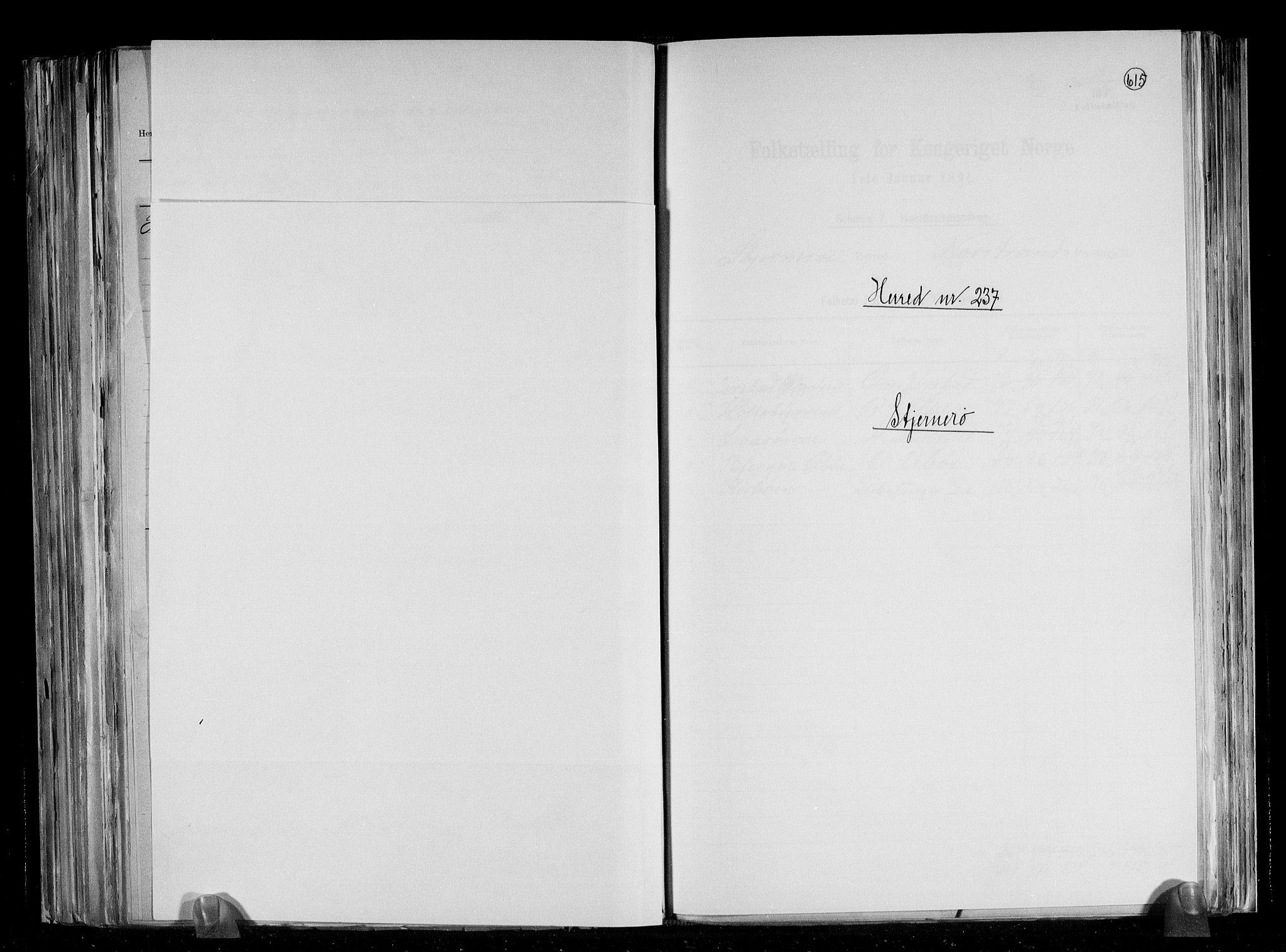 RA, Folketelling 1891 for 1140 Sjernarøy herred, 1891, s. 1