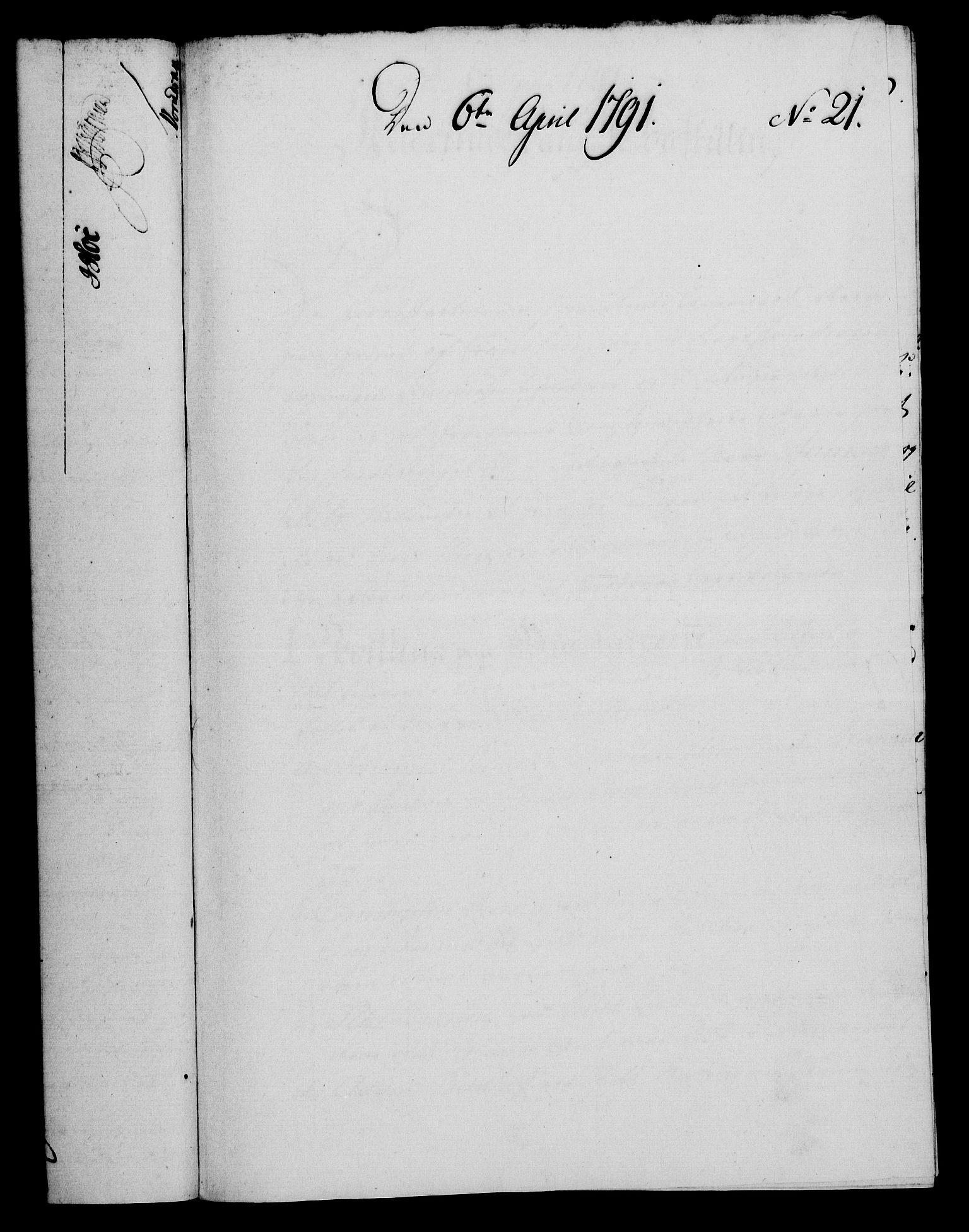 RA, Rentekammeret, Kammerkanselliet, G/Gf/Gfa/L0073: Norsk relasjons- og resolusjonsprotokoll (merket RK 52.73), 1791, s. 135