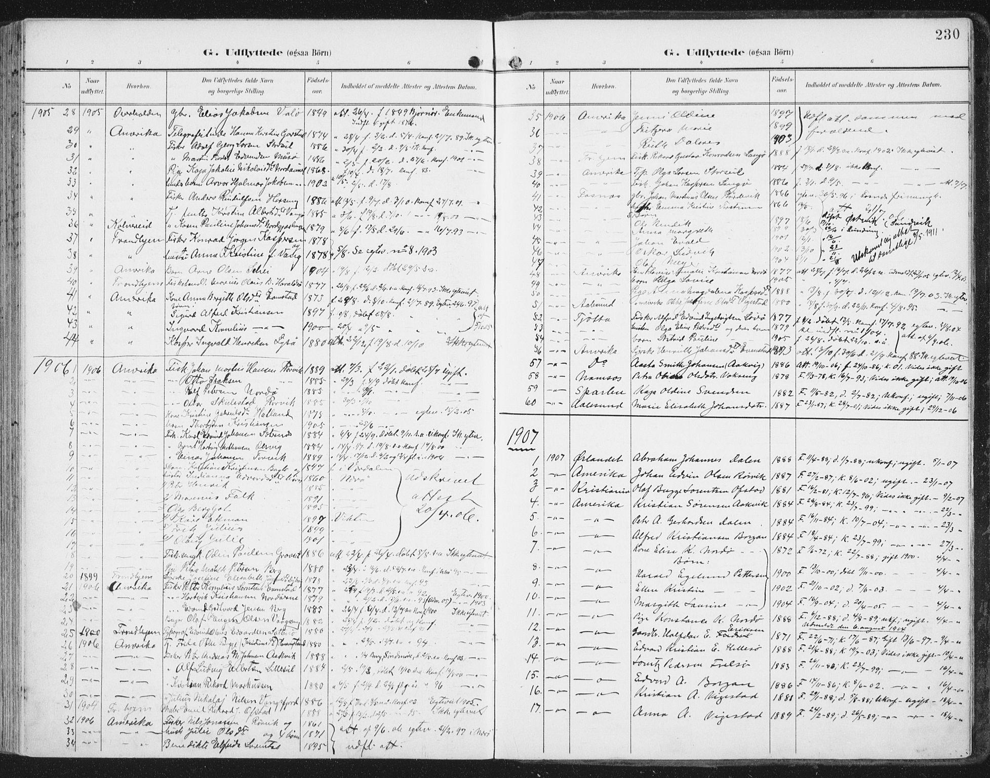SAT, Ministerialprotokoller, klokkerbøker og fødselsregistre - Nord-Trøndelag, 786/L0688: Ministerialbok nr. 786A04, 1899-1912, s. 230