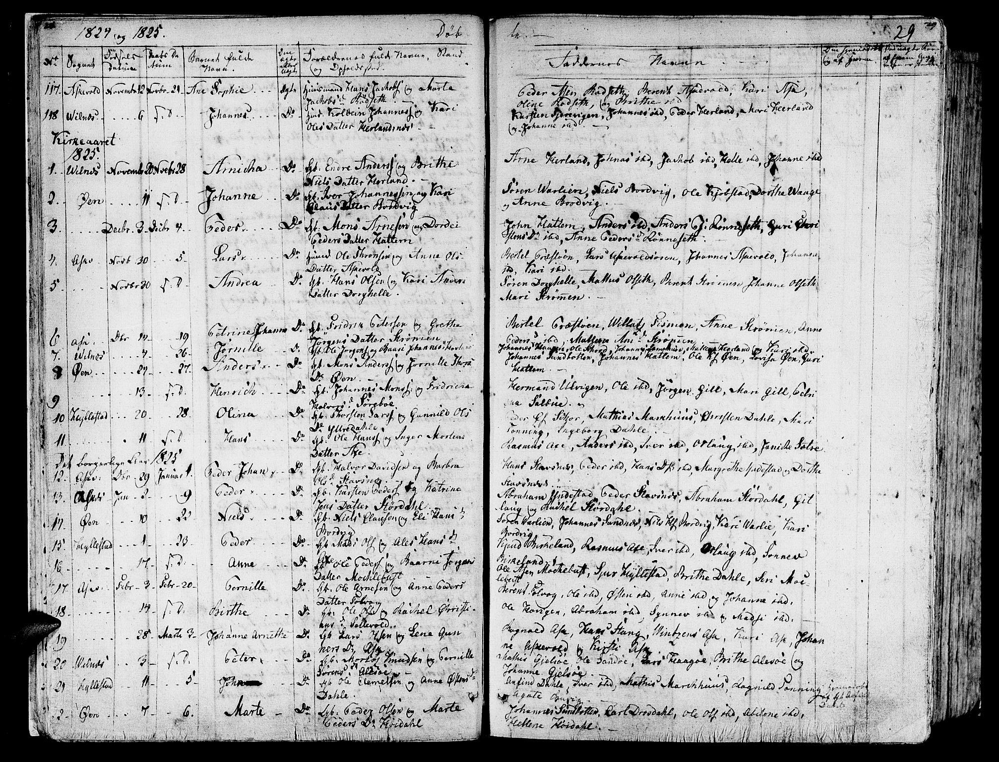 SAB, Askvoll Sokneprestembete, Ministerialbok nr. A 10, 1821-1844, s. 28-29
