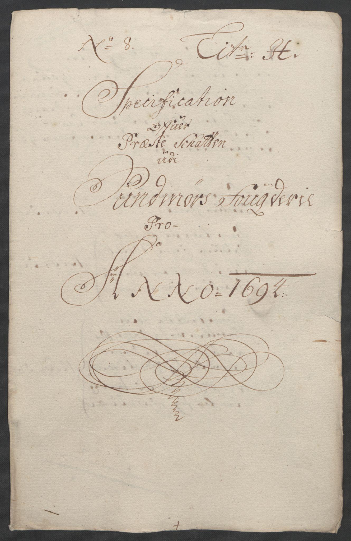 RA, Rentekammeret inntil 1814, Reviderte regnskaper, Fogderegnskap, R54/L3555: Fogderegnskap Sunnmøre, 1694-1695, s. 167