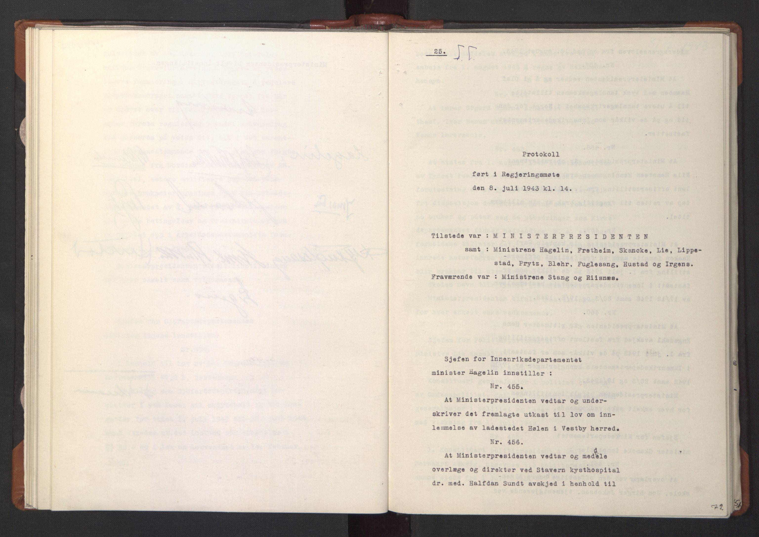 RA, NS-administrasjonen 1940-1945 (Statsrådsekretariatet, de kommisariske statsråder mm), D/Da/L0003: Vedtak (Beslutninger) nr. 1-746 og tillegg nr. 1-47 (RA. j.nr. 1394/1944, tilgangsnr. 8/1944, 1943, s. 78b-79a