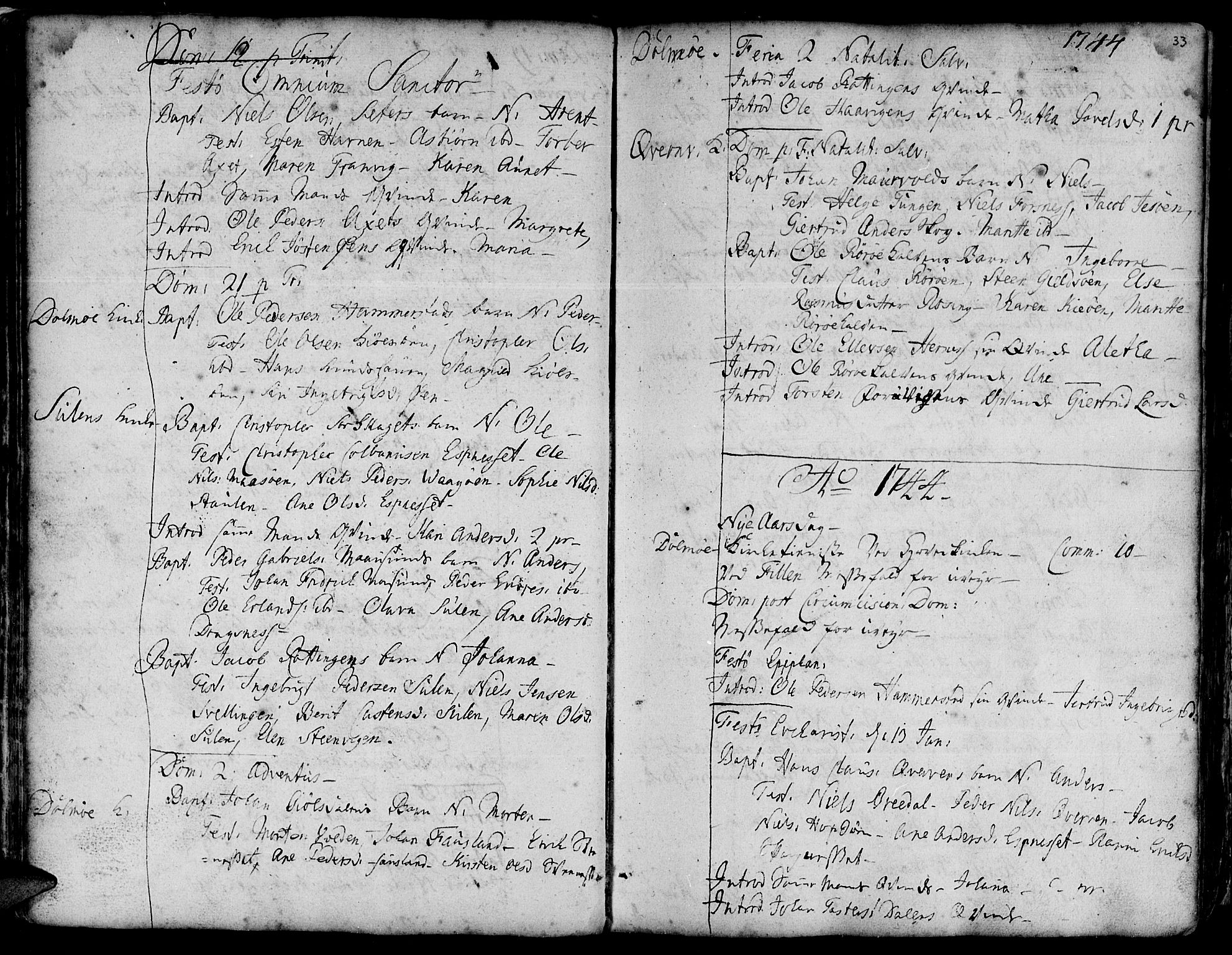 SAT, Ministerialprotokoller, klokkerbøker og fødselsregistre - Sør-Trøndelag, 634/L0525: Ministerialbok nr. 634A01, 1736-1775, s. 33