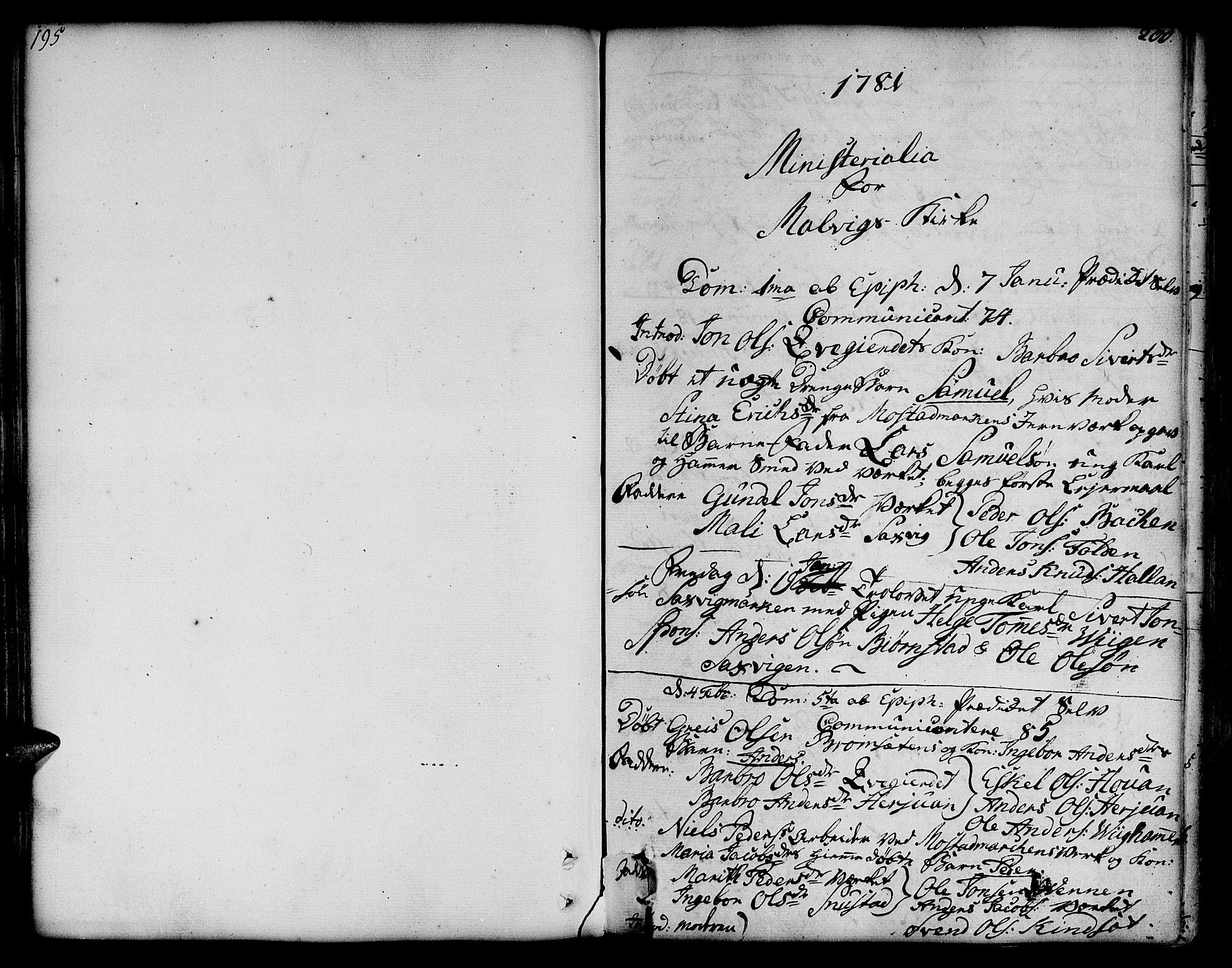 SAT, Ministerialprotokoller, klokkerbøker og fødselsregistre - Sør-Trøndelag, 606/L0281: Ministerialbok nr. 606A02 /2, 1781-1817, s. 200