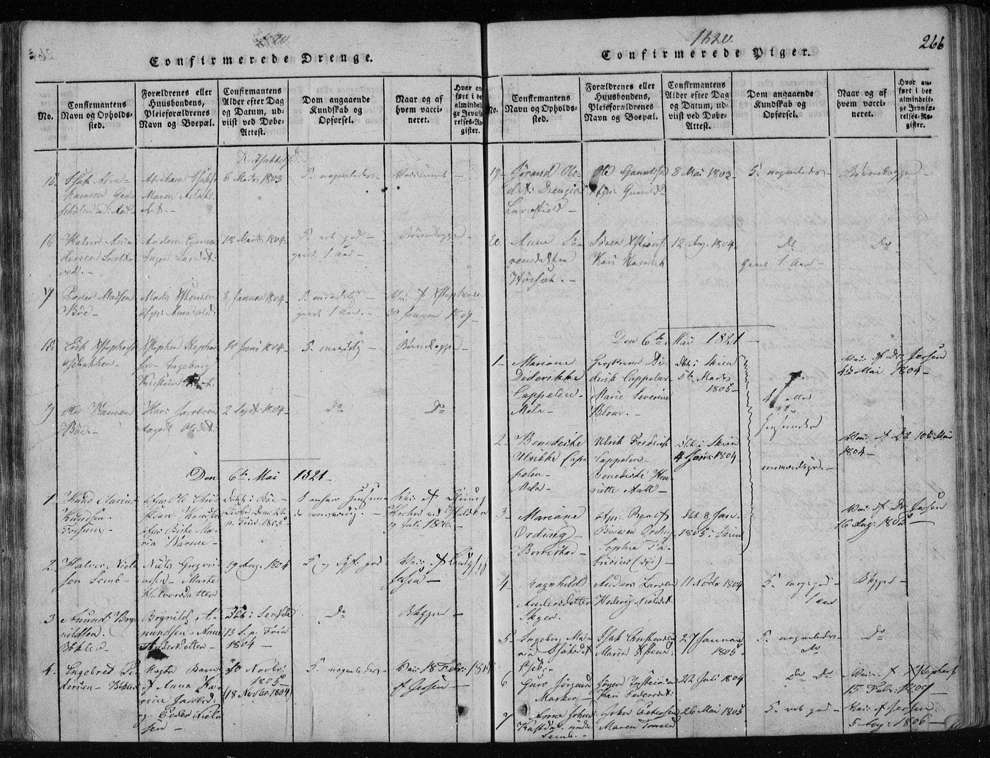 SAKO, Gjerpen kirkebøker, F/Fa/L0004: Ministerialbok nr. 4, 1814-1823, s. 266
